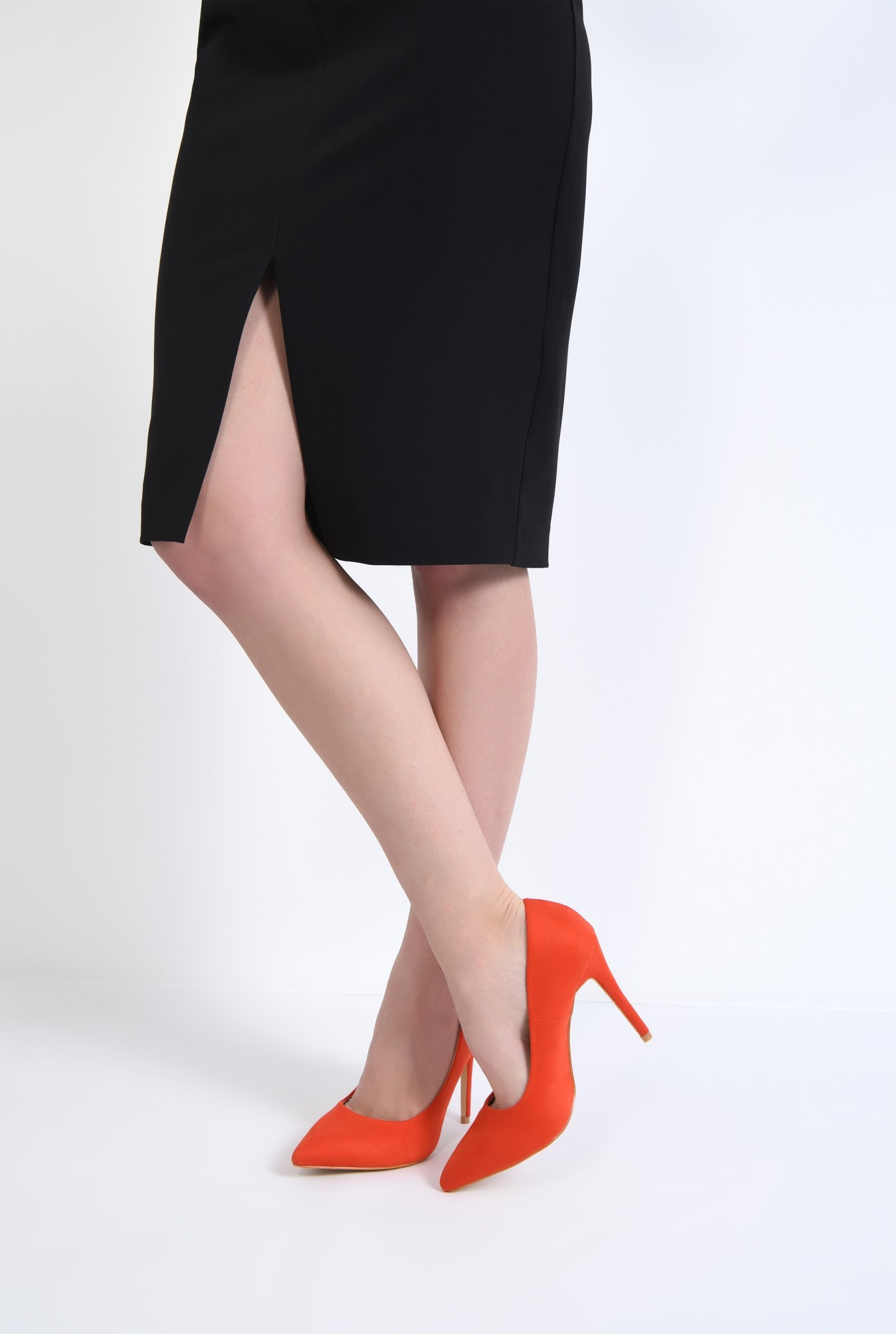 4 - pantofi casual, rosu, stiletto