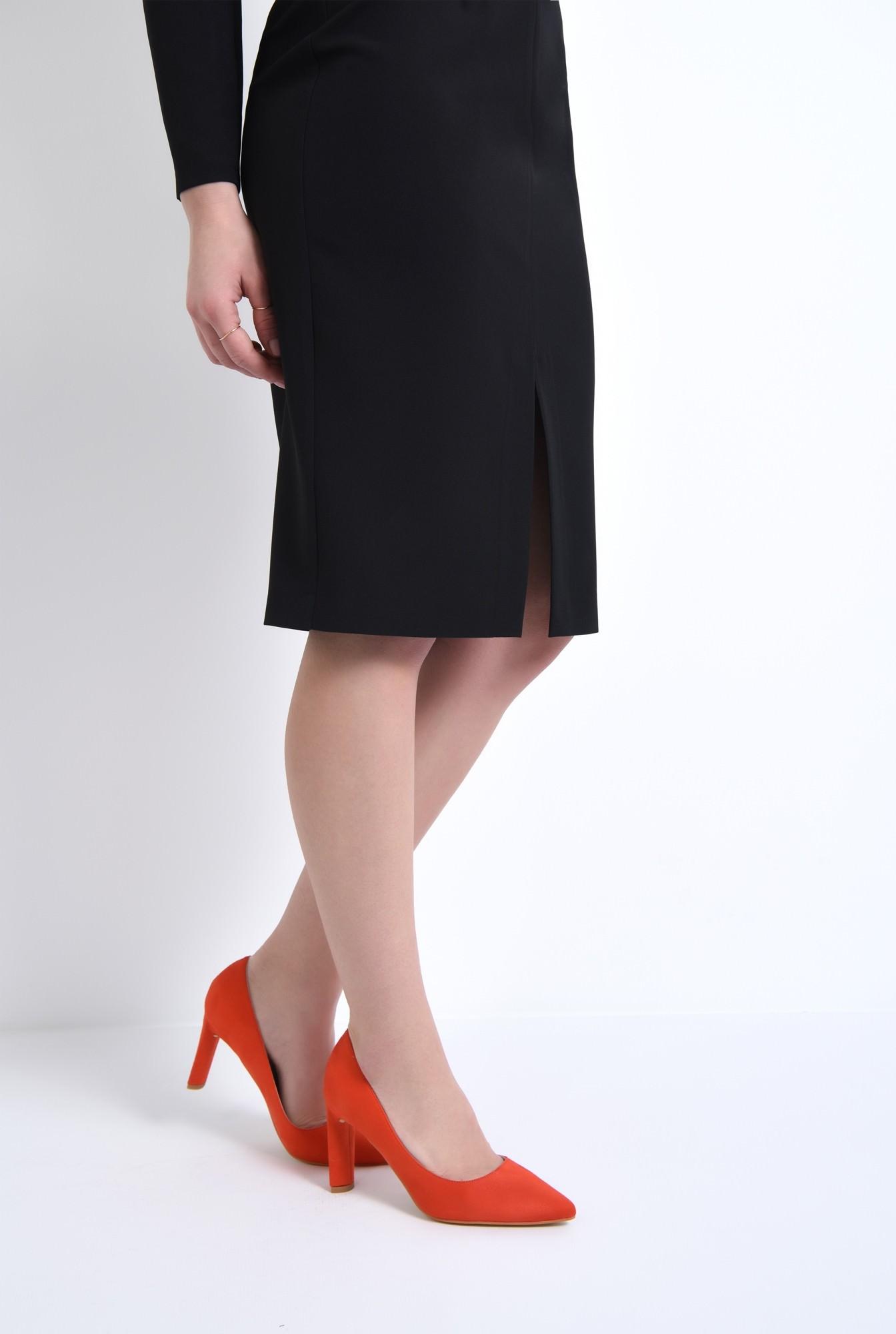 4 - pantofi casual, rosu, toc inalt