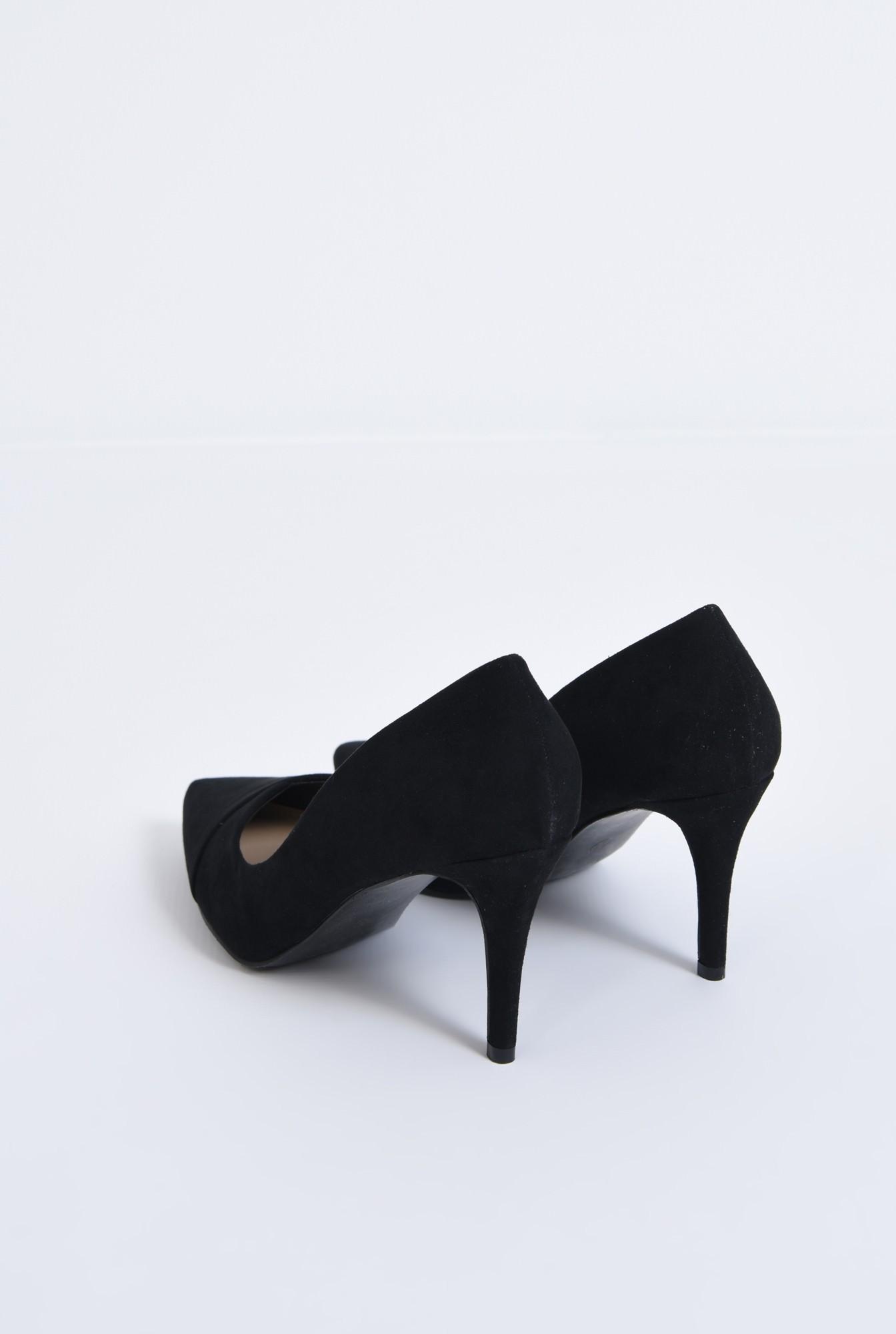 2 - pantofi casual, negru, toc subtire