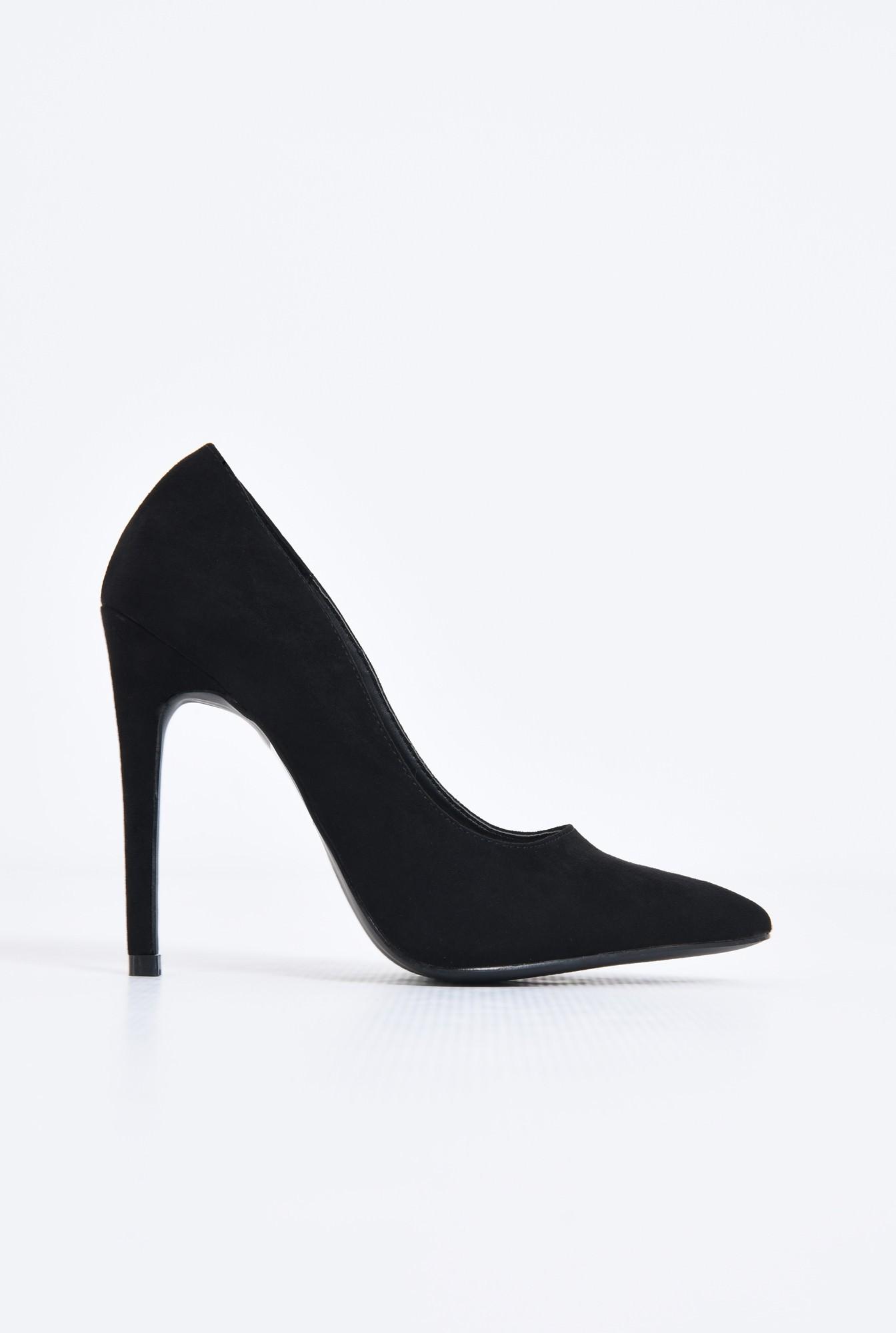 0 - pantofi de ocazie, varf ascutit, toc inalt