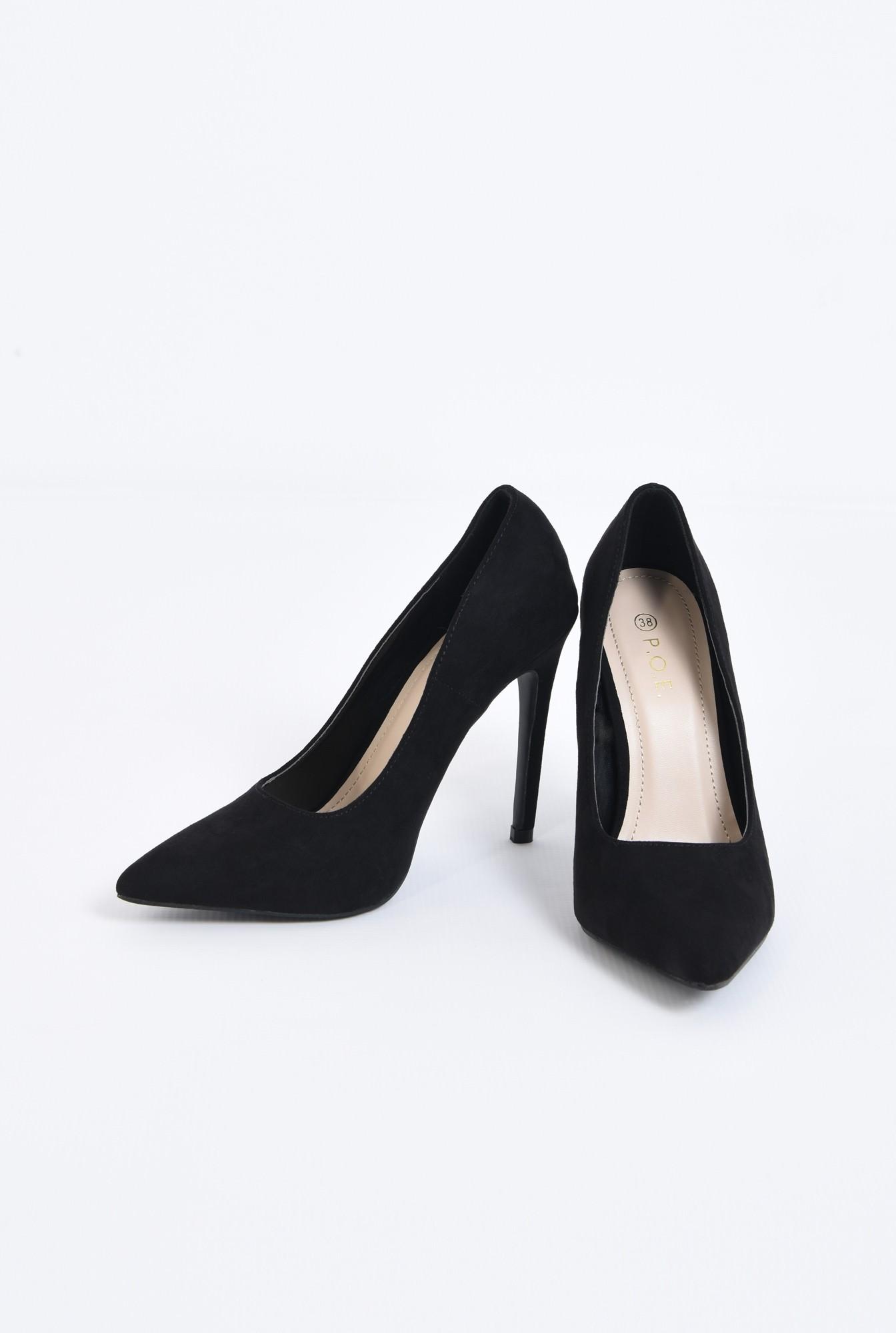 3 - pantofi de ocazie, varf ascutit, toc inalt