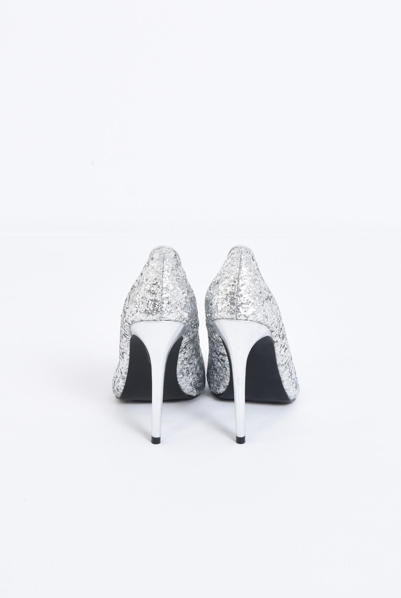 2 - pantofi de ocazie, toc inalt, varf ascutit