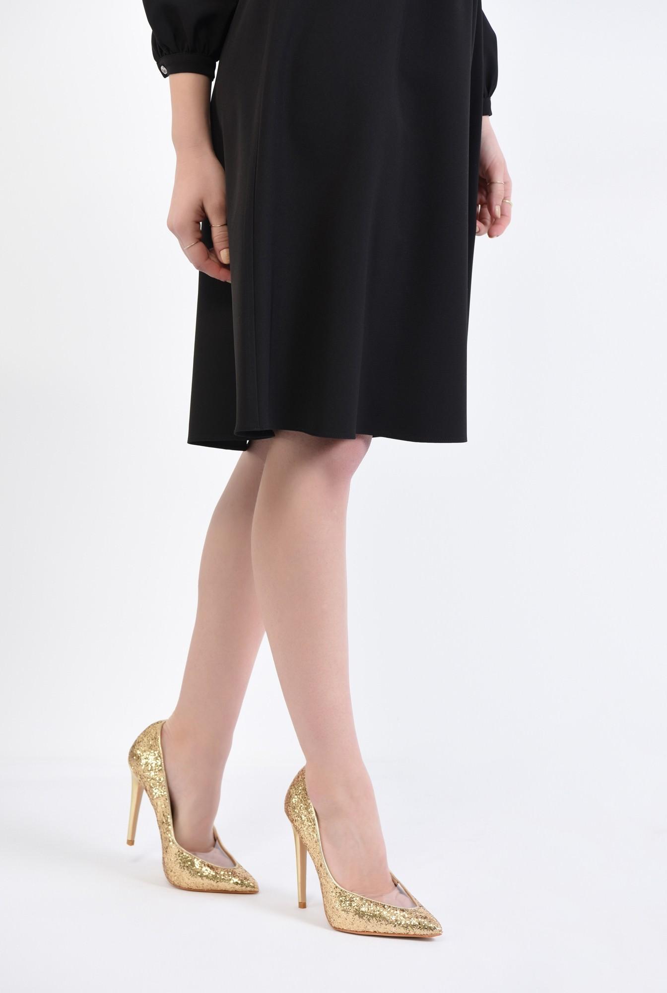 4 - pantofi eleganti, auriu, stiletto, glitter