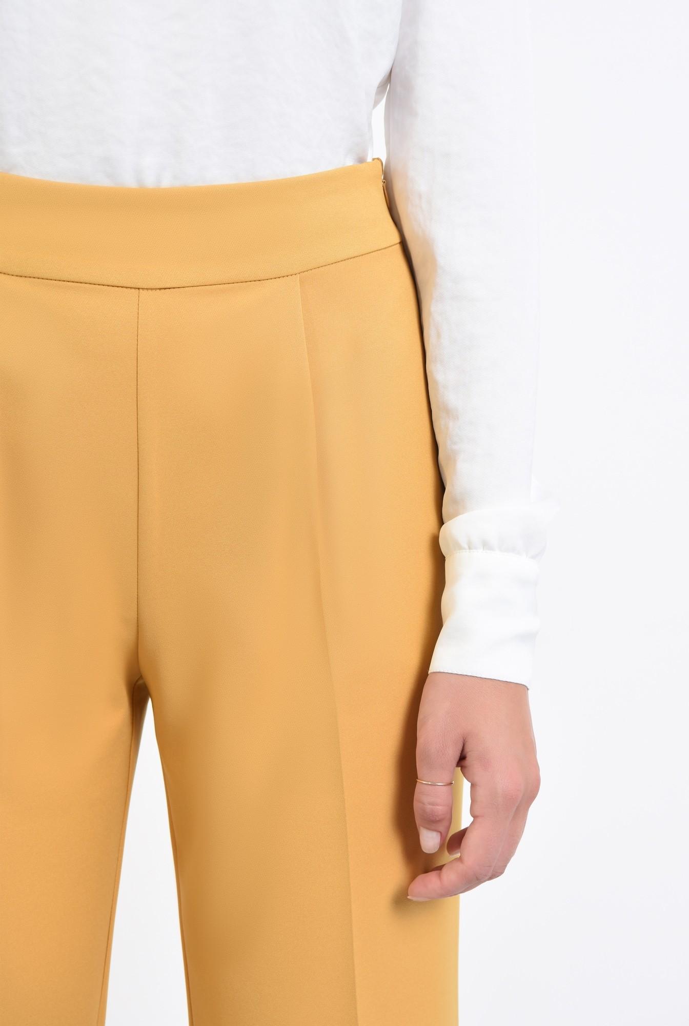 2 - pantaloni casual mustar, pantaloni online, croi larg