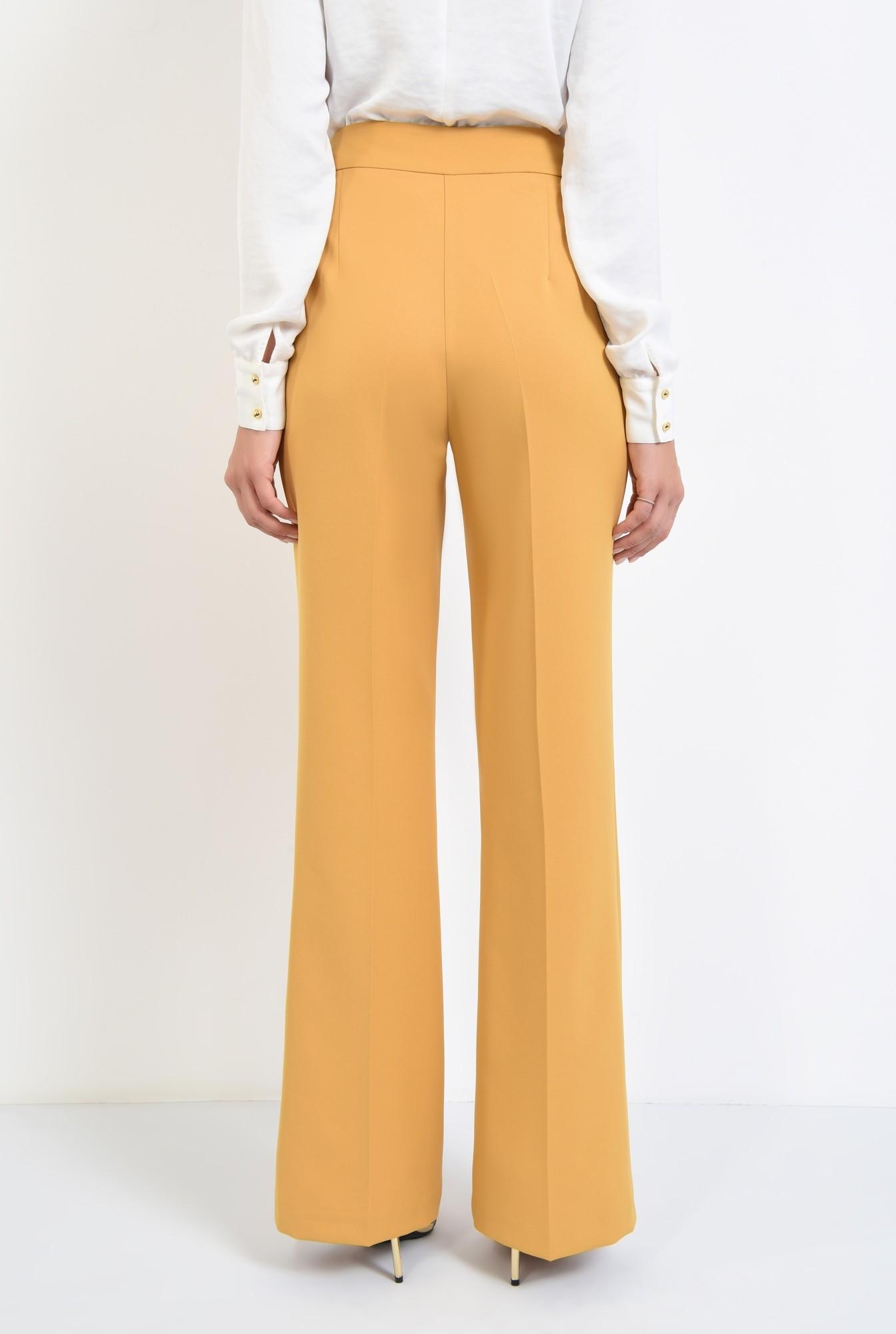 1 - pantaloni casual mustar, pantaloni online, croi larg