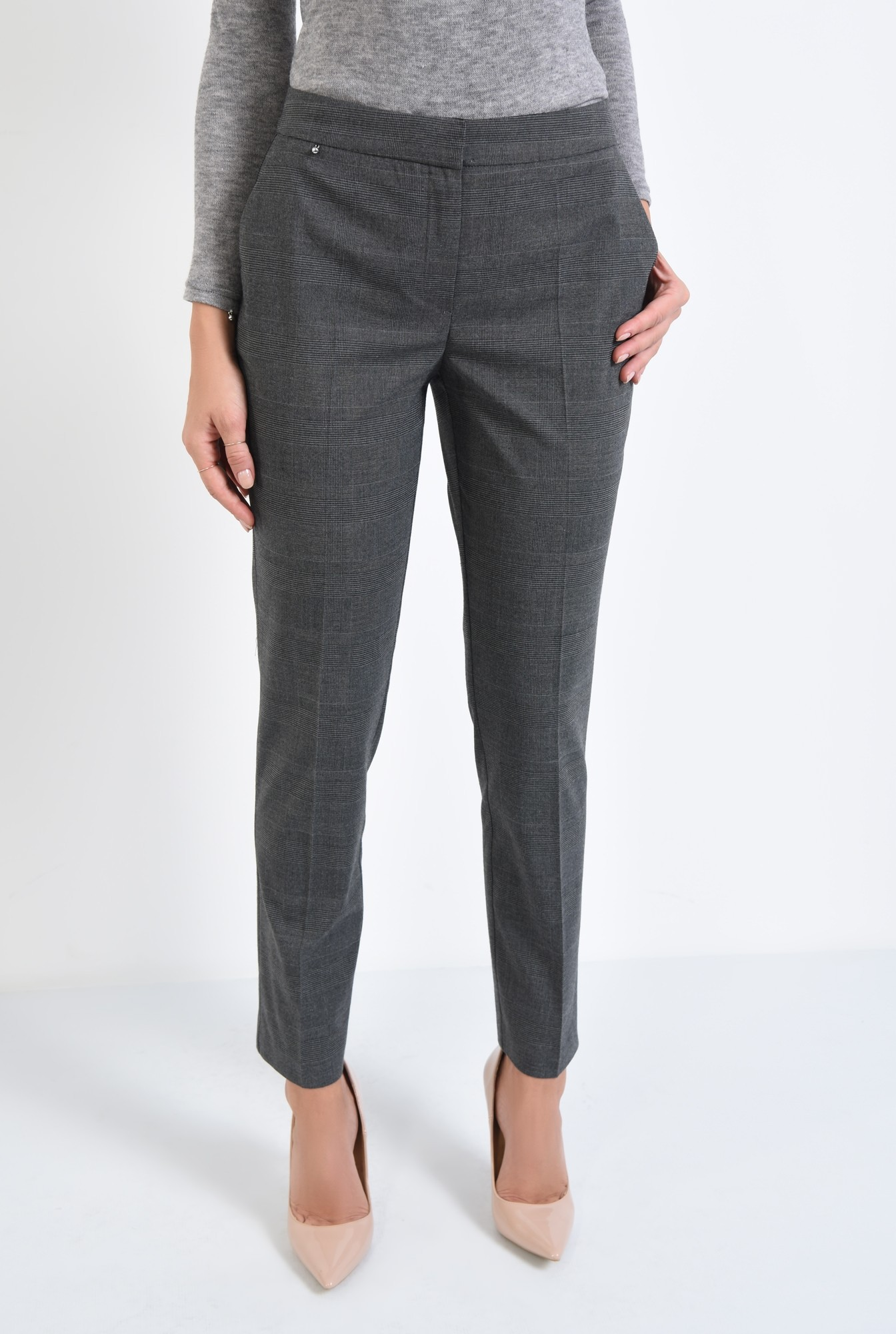 2 - pantaloni in carouri, de birou, offfice, pantaloni dama, pantaloni online