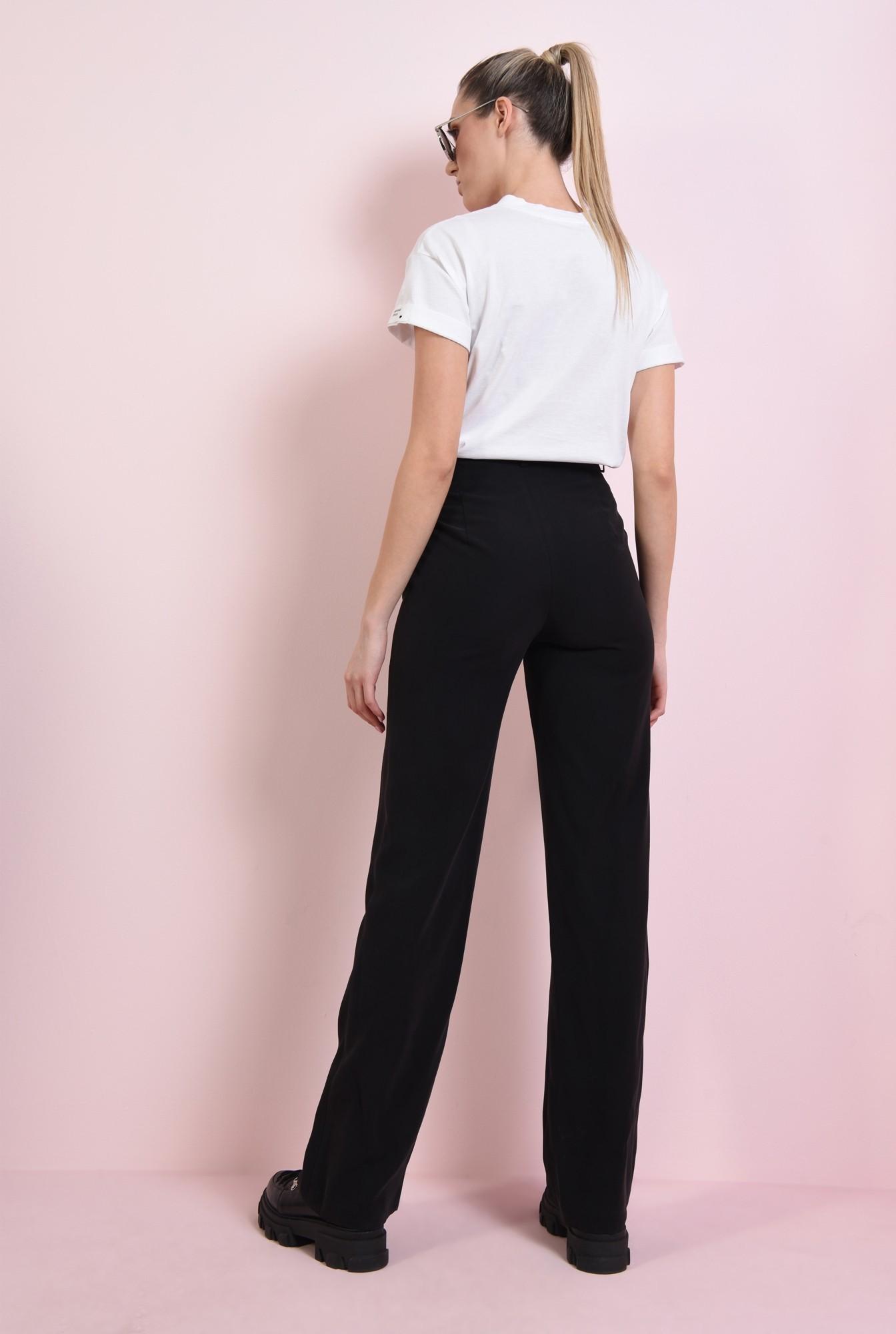 1 - pantaloni negri, drepti, cu talie medie, Poema