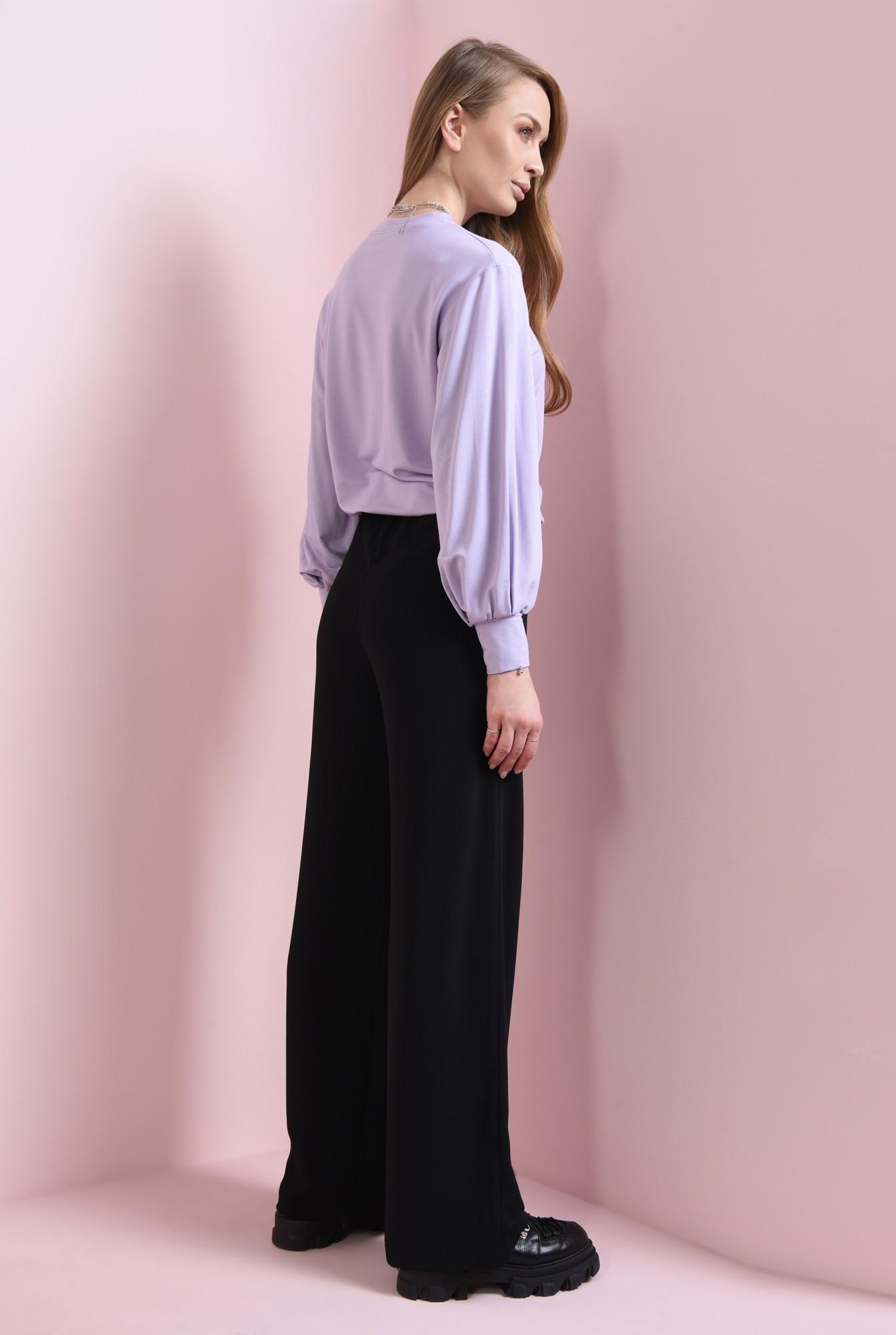 1 - pantaloni largi, negri, cu snur