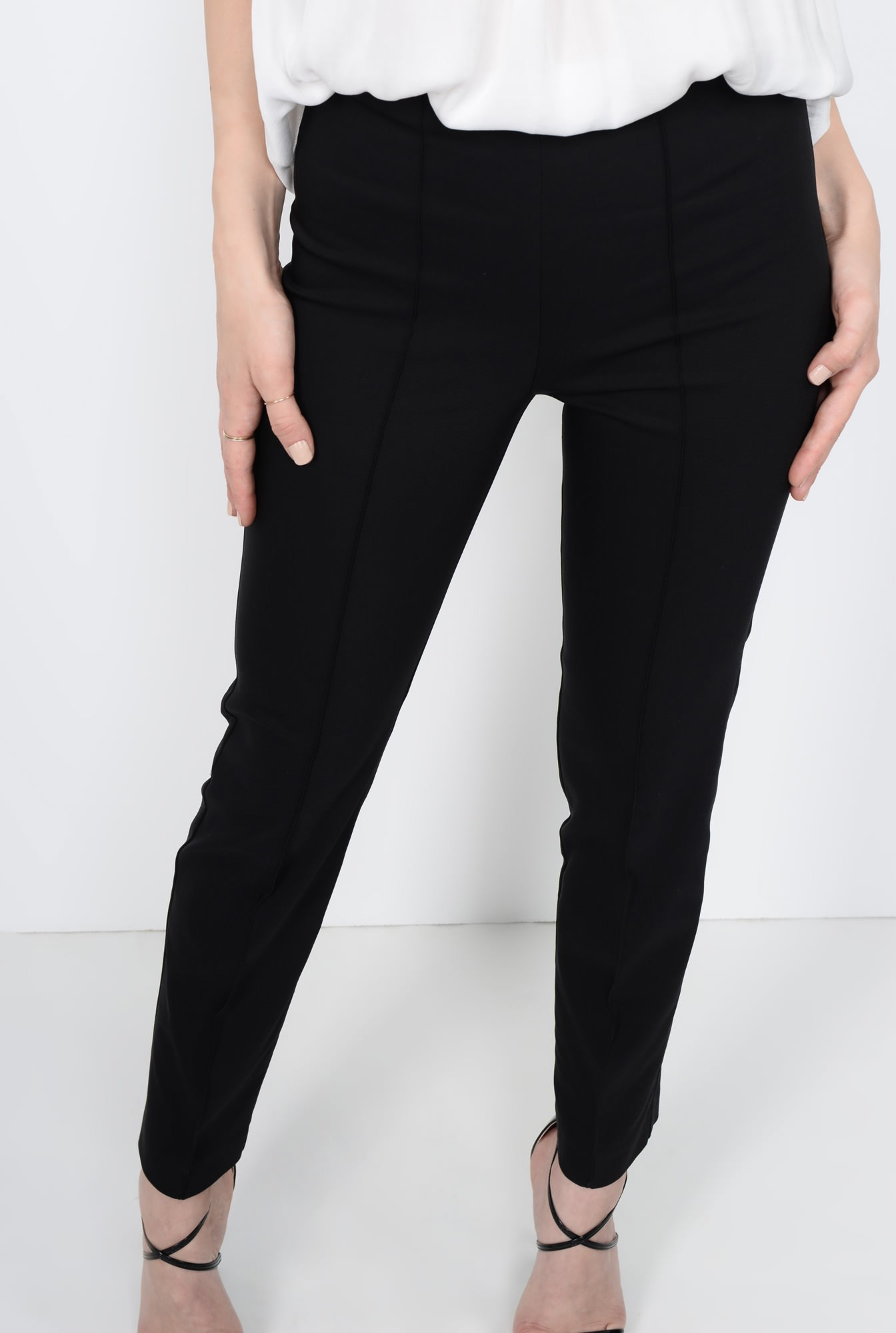 2 - PANTALON OFFICE CONIC PT 105-NEGRU