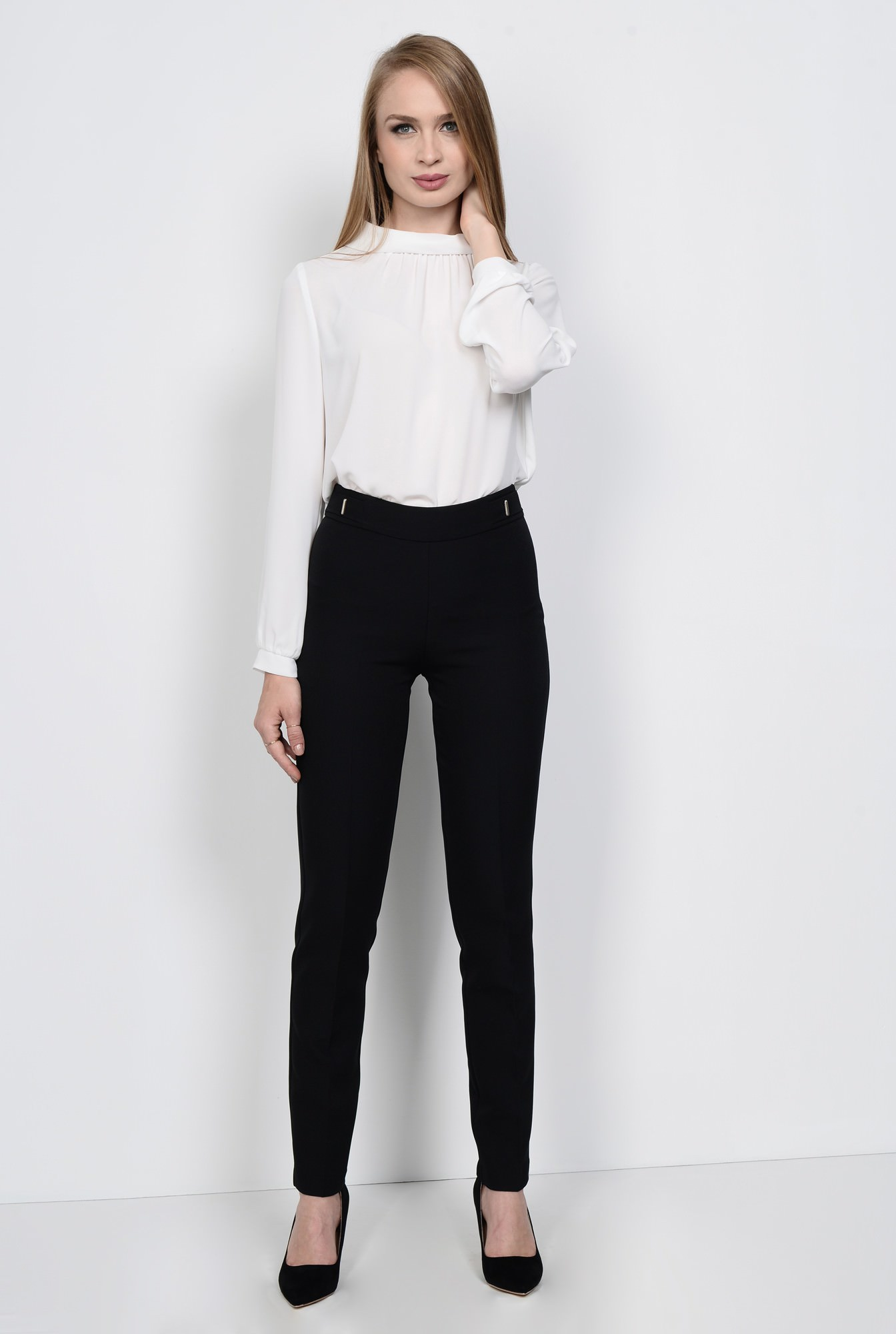 3 - PANTALON OFFICE CONIC PT 120-NEGRU
