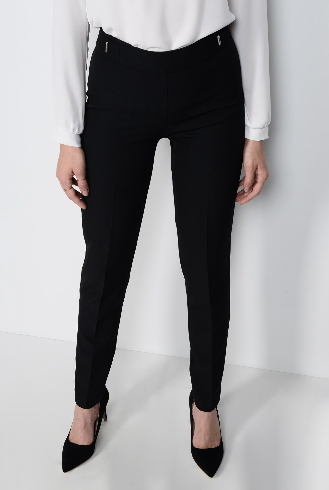 2 - PANTALON OFFICE CONIC PT 120-NEGRU