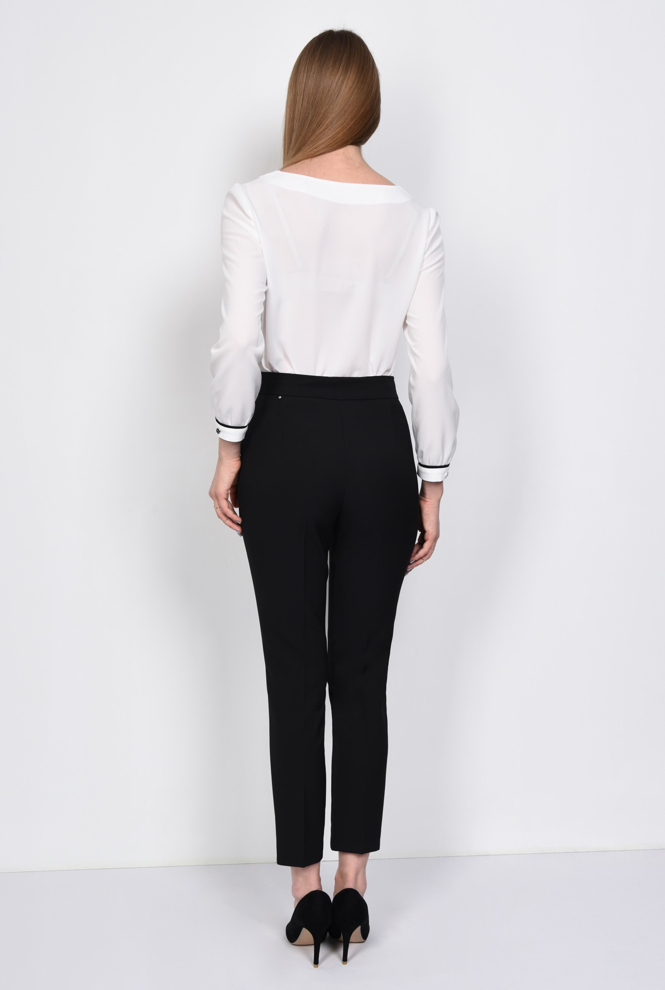 1 - PANTALON OFFICE CONIC PT 127-NEGRU
