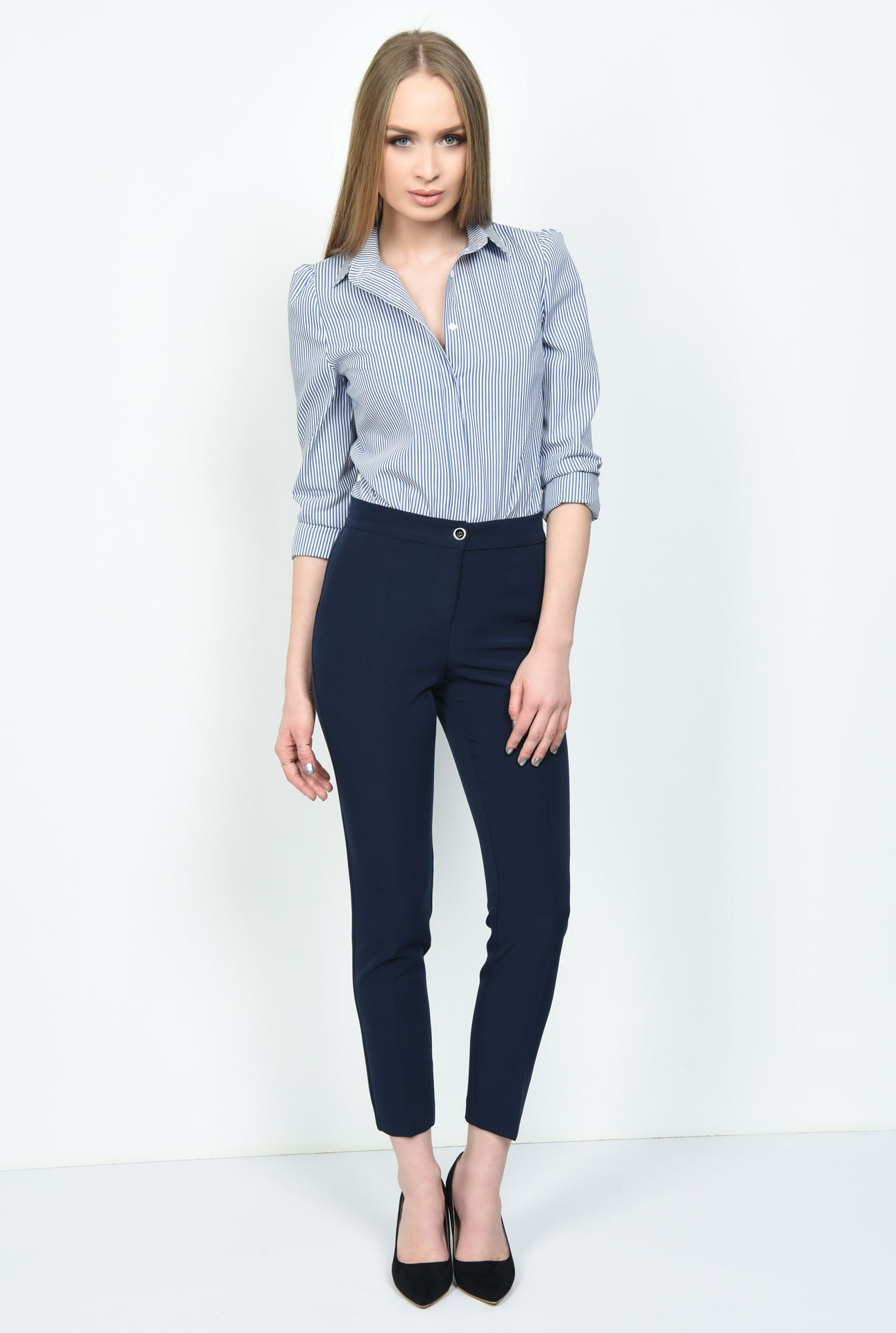 3 - PANTALON OFFICE CONIC PT 133-BLEUMARIN