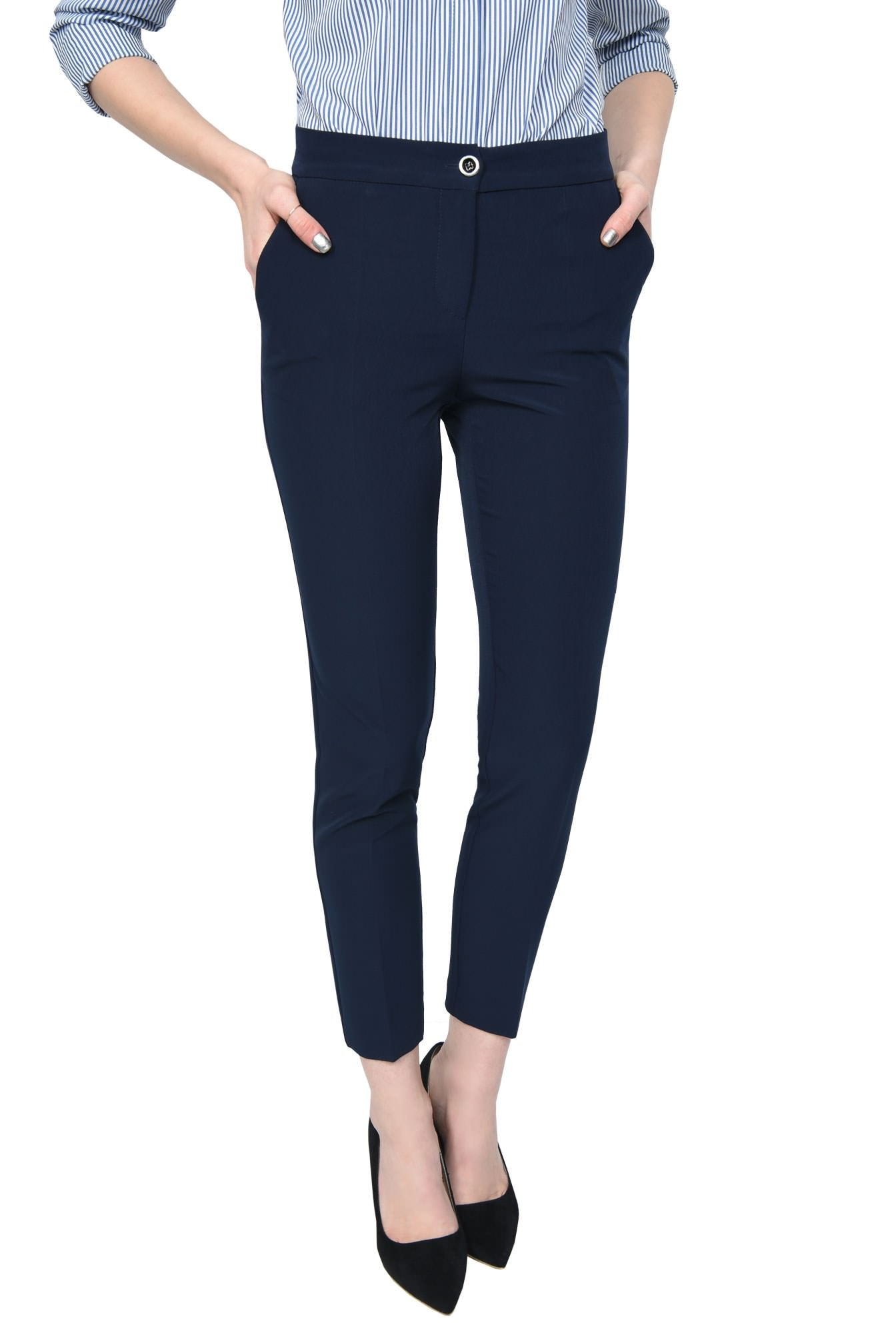 2 - PANTALON OFFICE CONIC PT 133-BLEUMARIN
