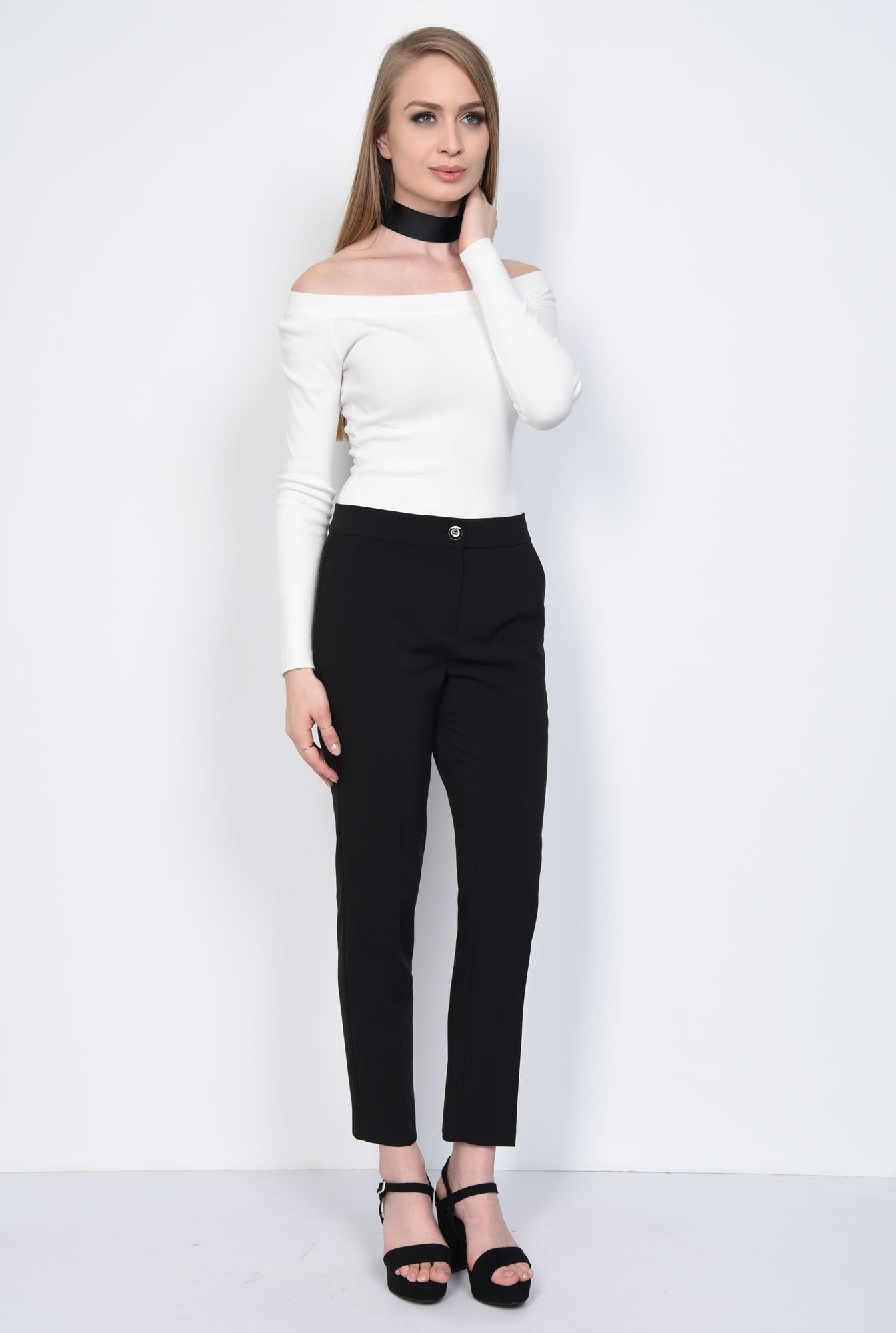 0 - PANTALON OFFICE CONIC PT 138-NEGRU