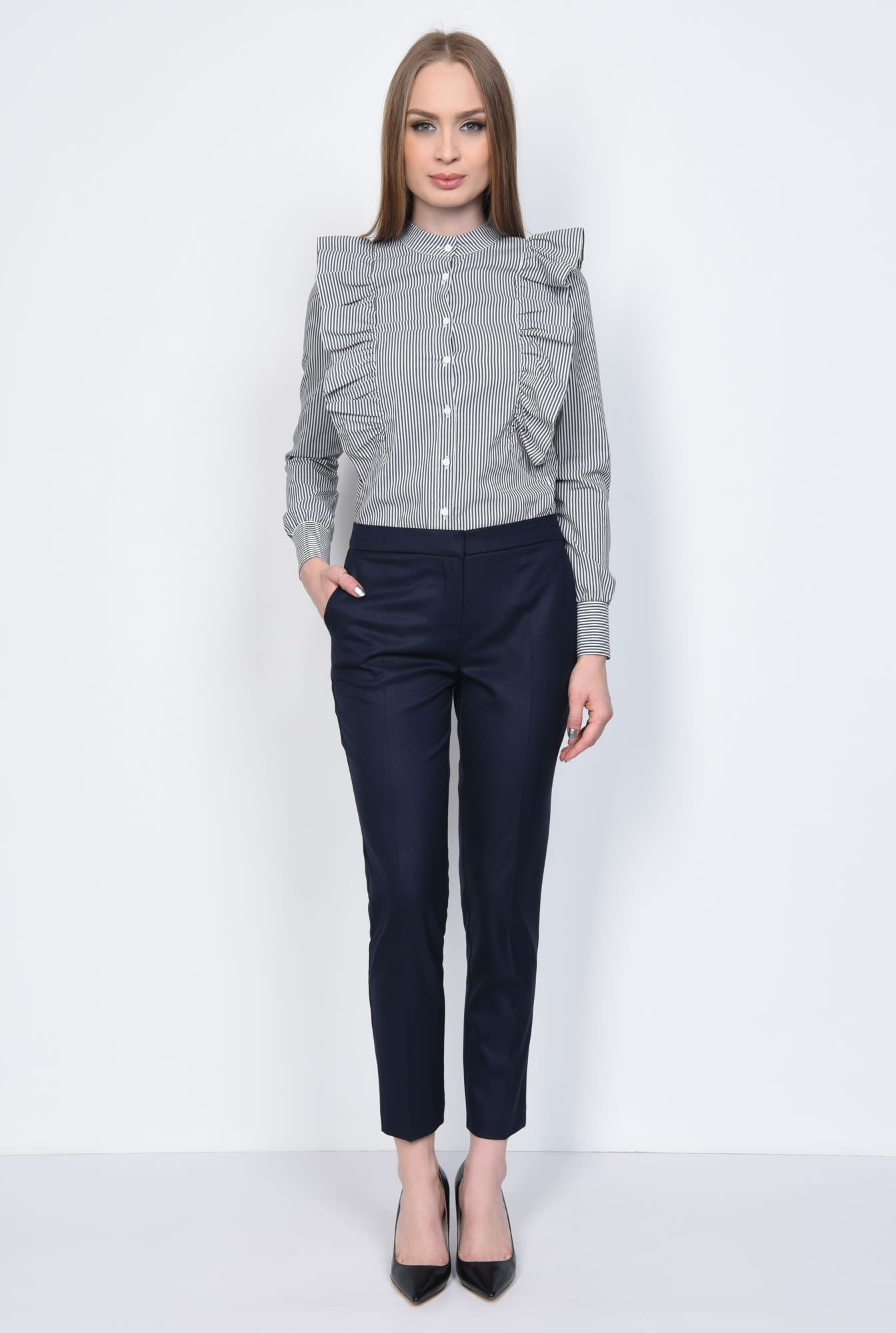 3 - PANTALON OFFICE CONIC PT 143-BLEUMARIN