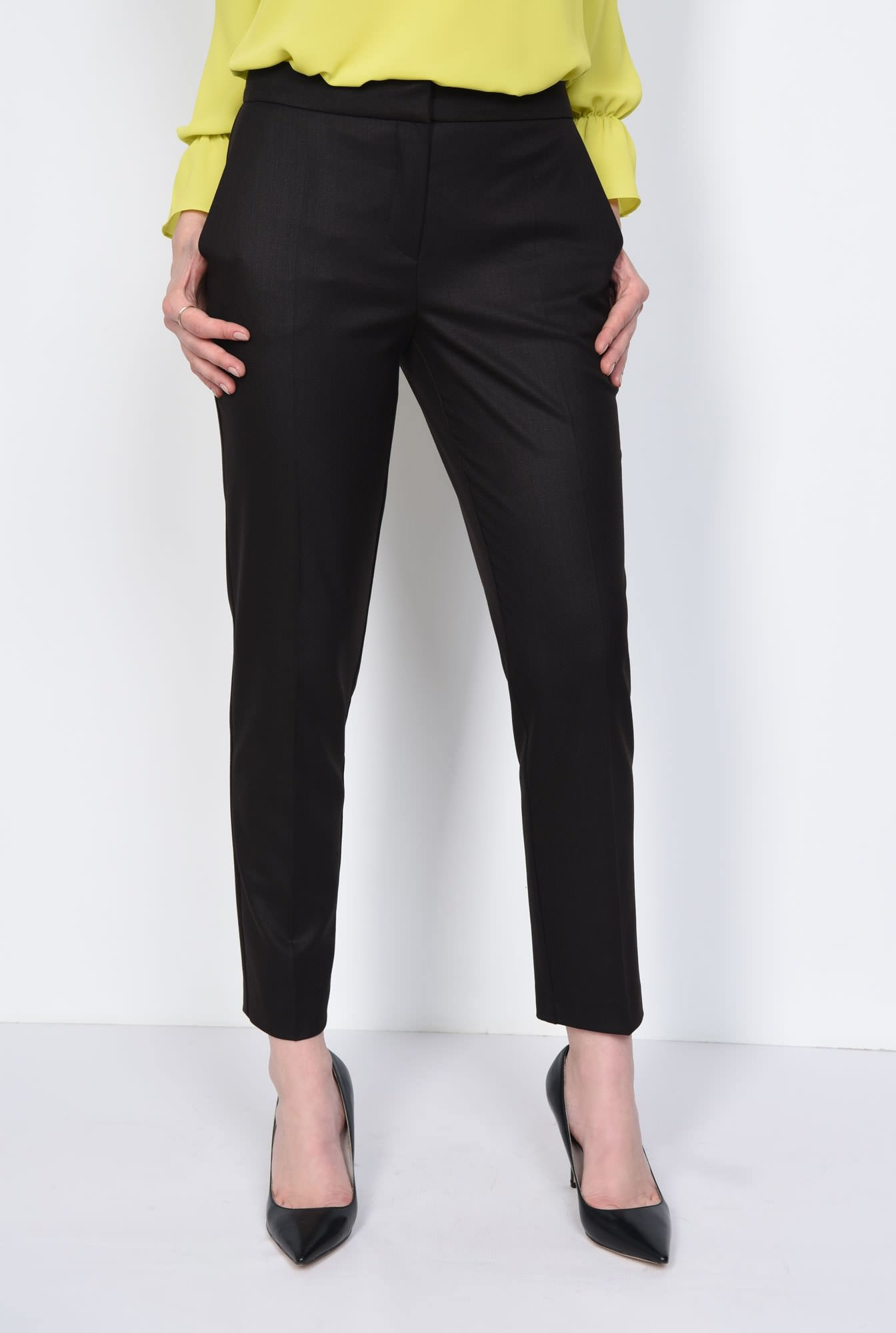 2 - PANTALON OFFICE CONIC PT 143-NEGRU