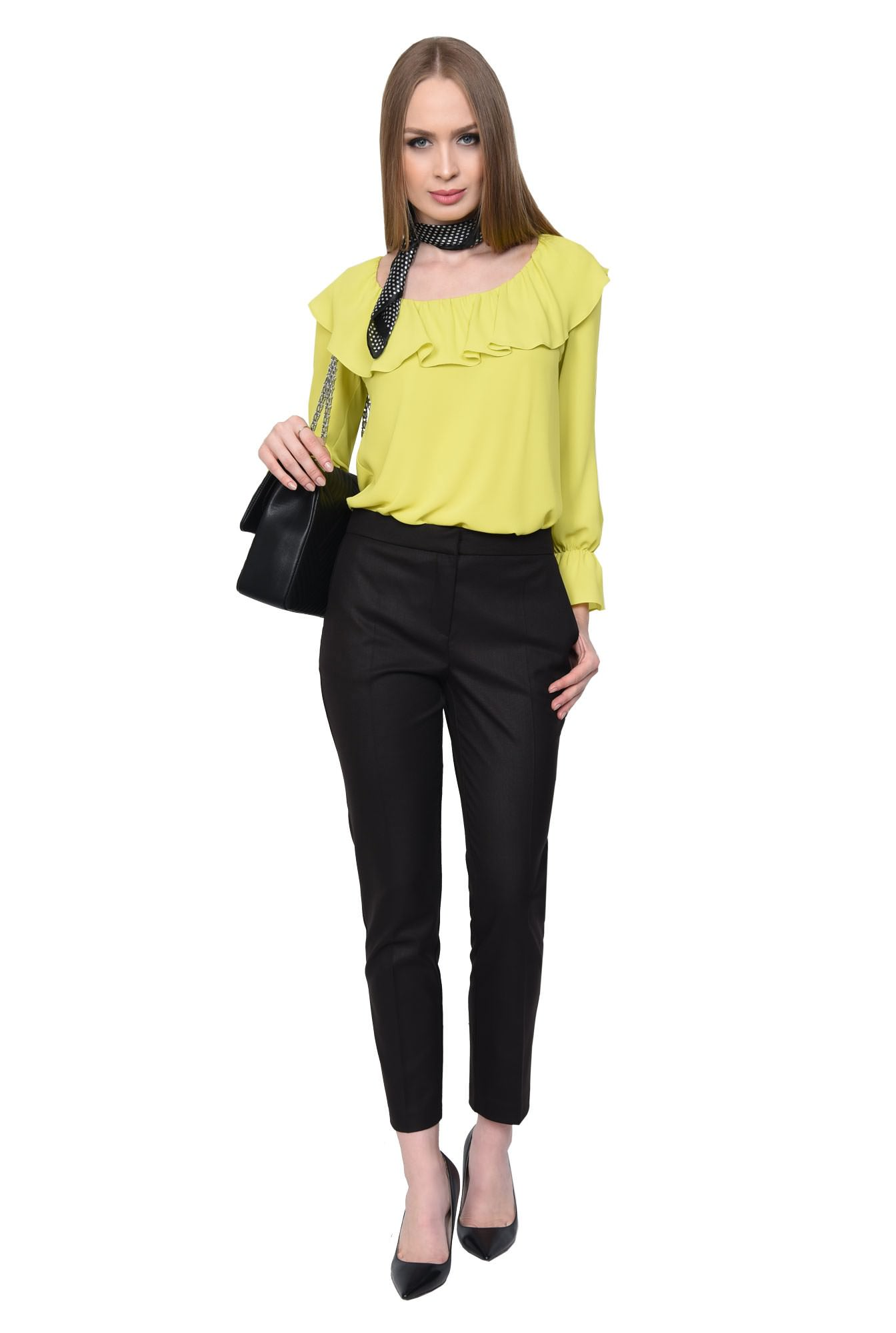 0 - PANTALON OFFICE CONIC PT 143-NEGRU