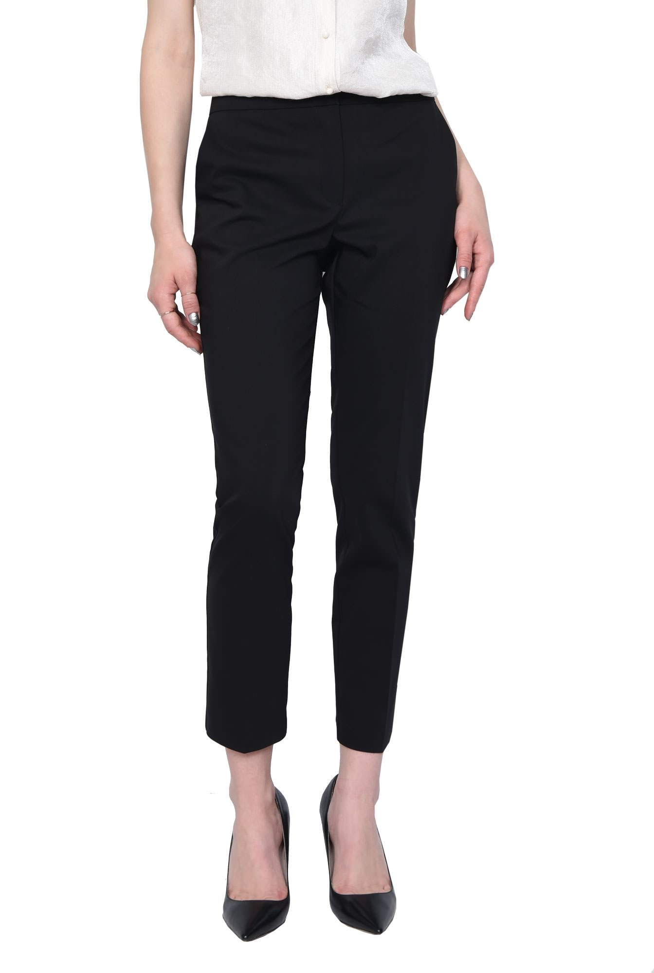 2 - PANTALON OFFICE CONIC PT 144-NEGRU