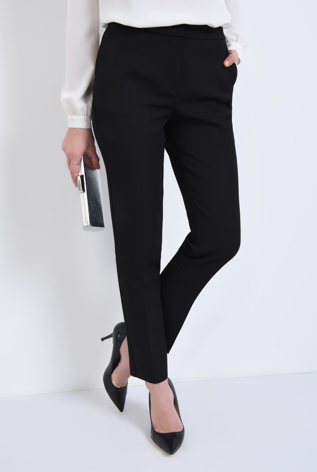 2 - 360 - Pantaloni pana, de birou, lungi, croi tigareta