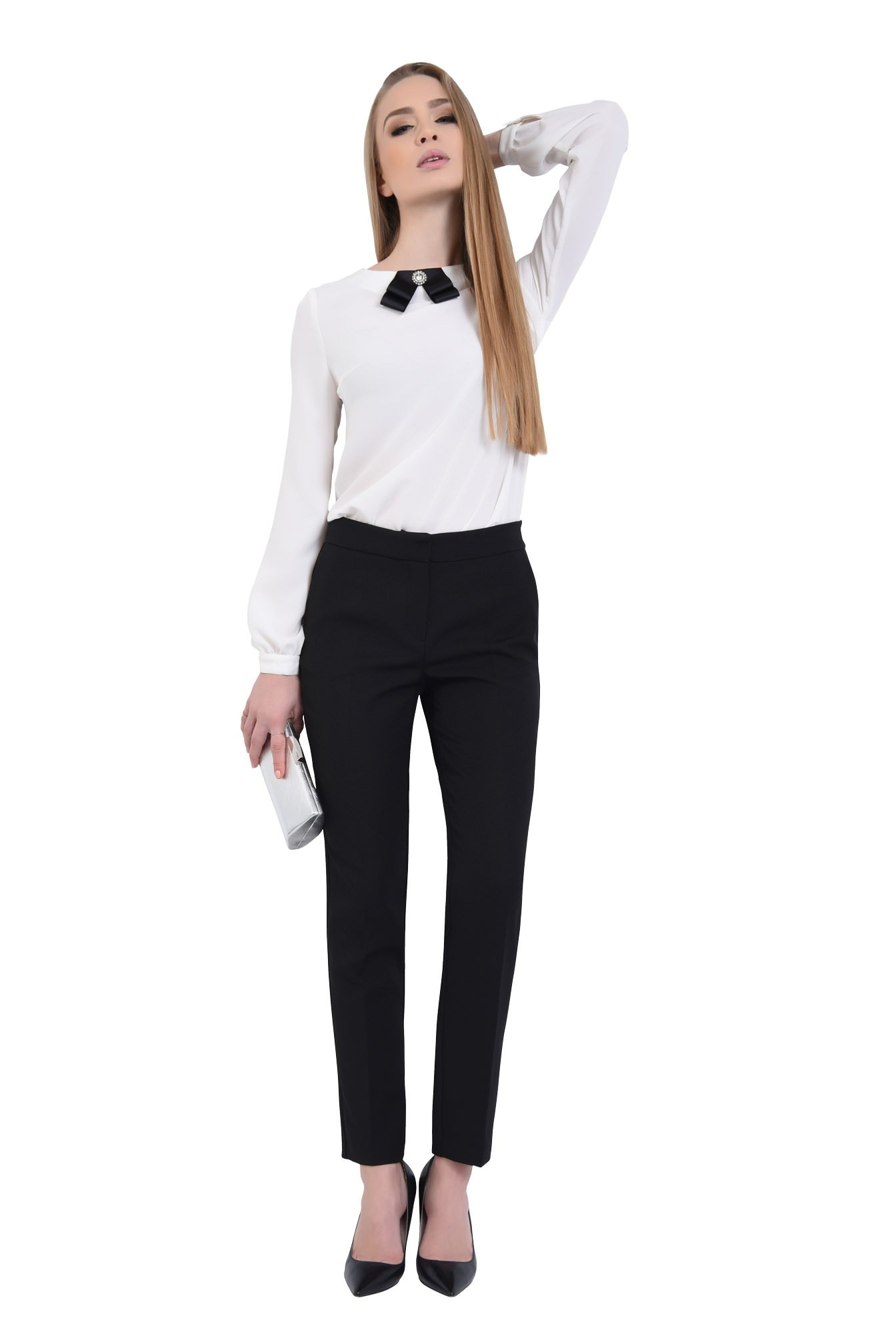 3 - 360 - Pantaloni pana, de birou, lungi, croi tigareta