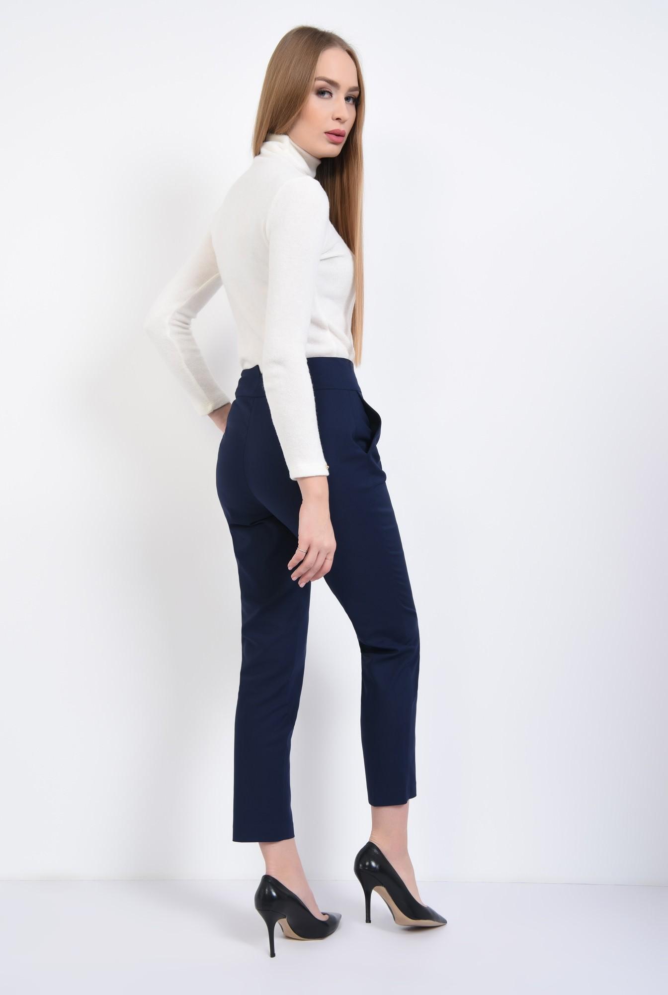 1 - Pantaloni office, bleumarin