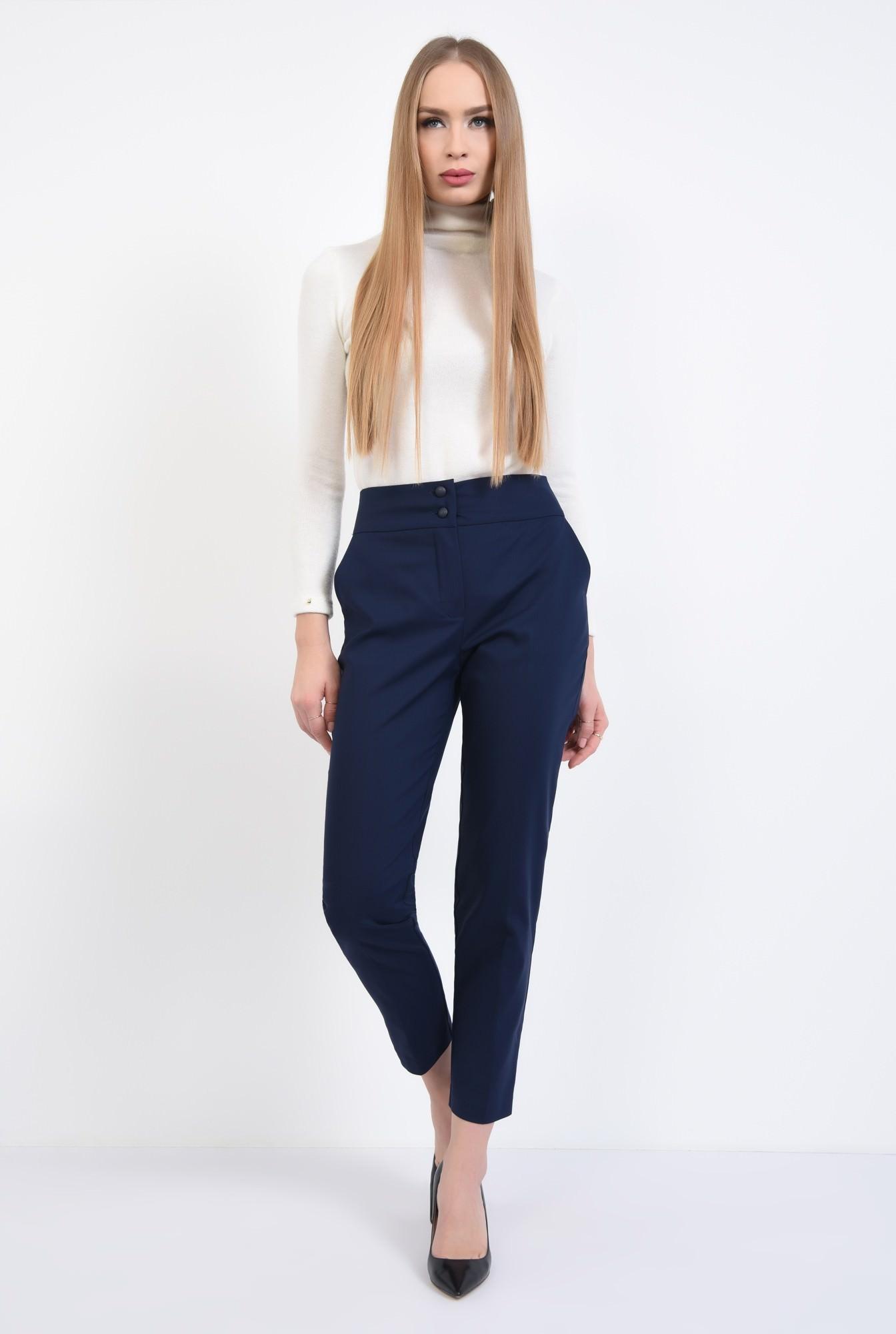 3 - Pantaloni office, bleumarin