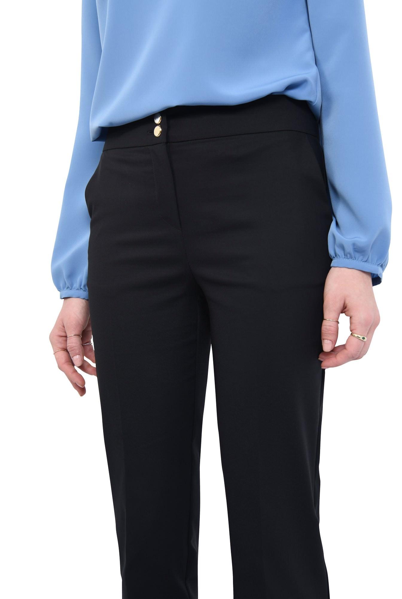 0 - Pantaloni casual, croi drept