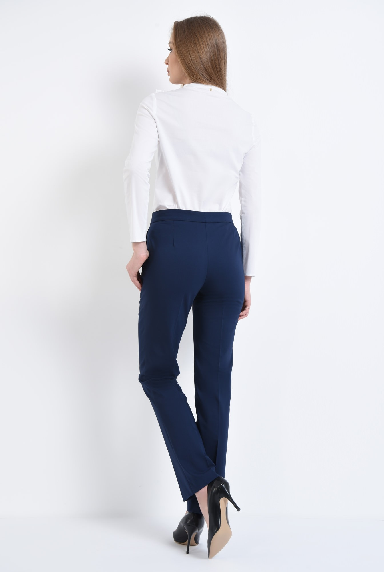 1 - Pantaloni casual, bleumarin