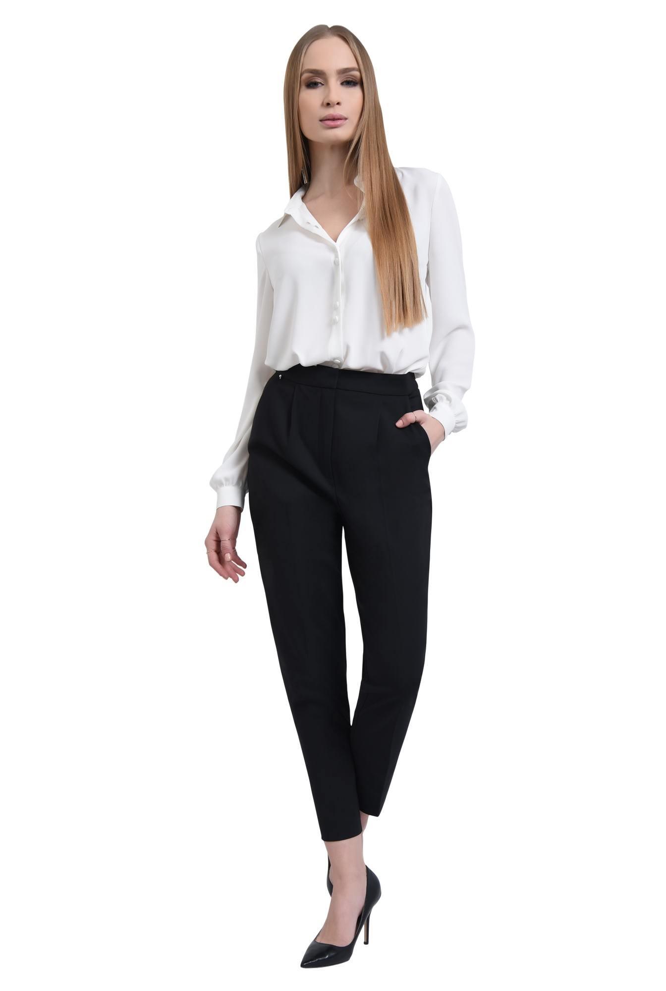 0 - Pantaloni casual, negru