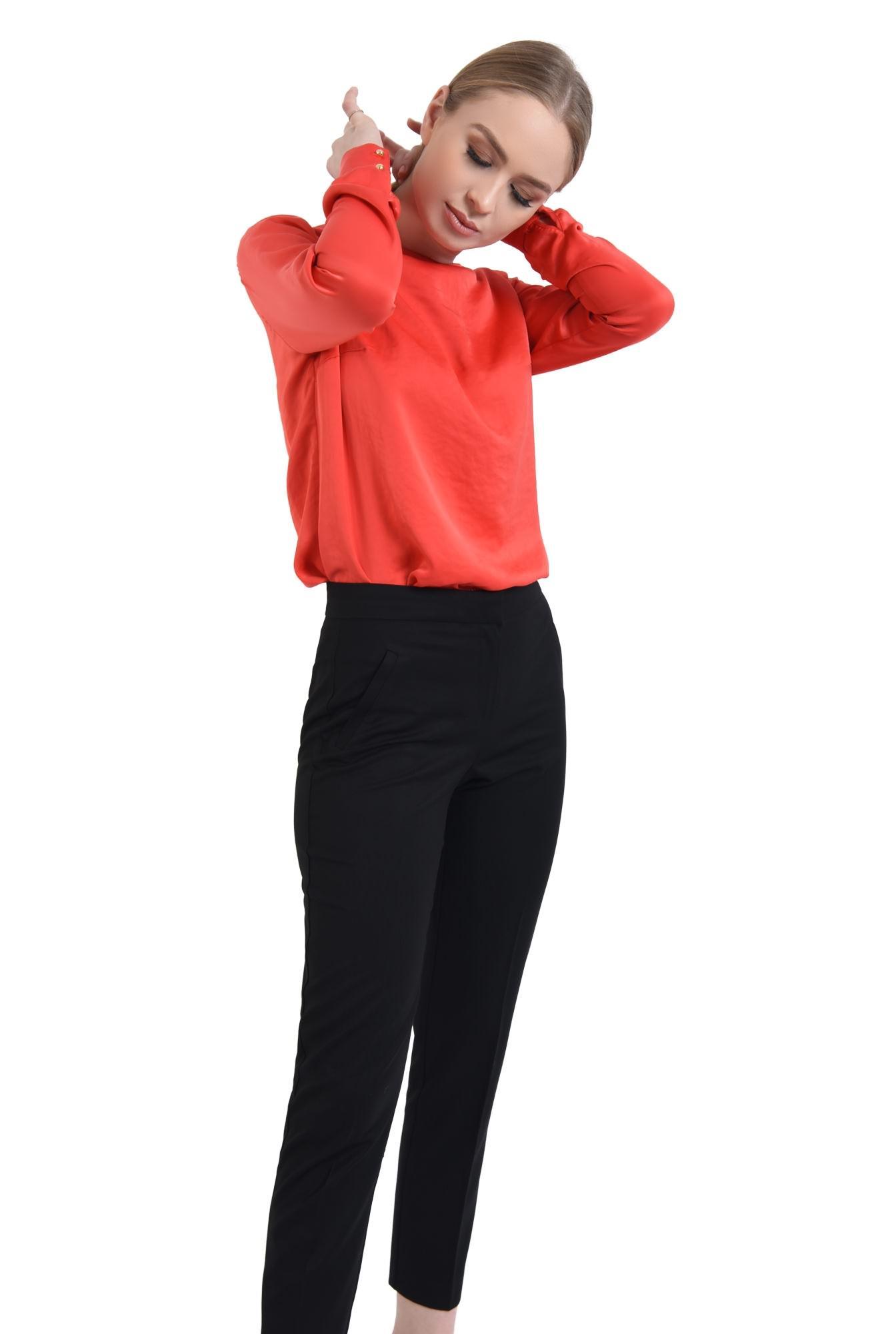0 - Pantaloni conici, negru