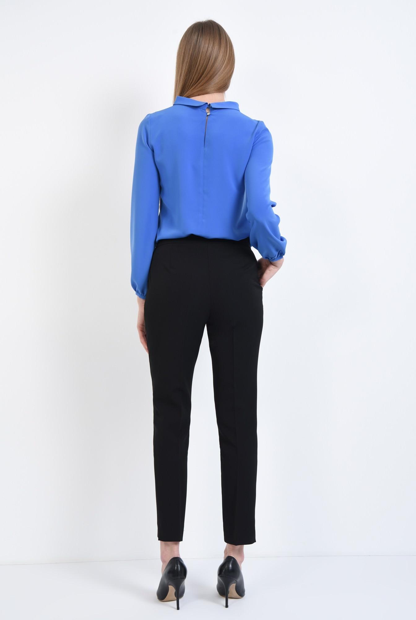 1 - Pantaloni casual, negru, cu buzunare laterale