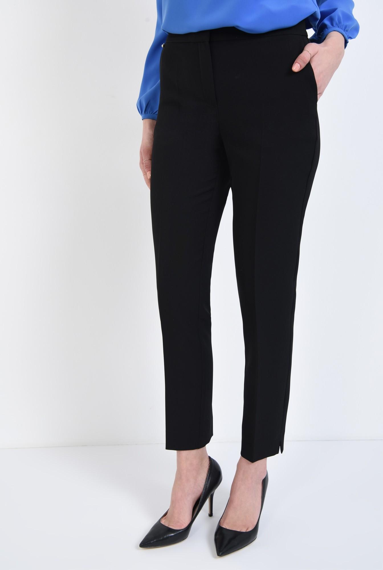 2 - Pantaloni casual, negru, cu buzunare laterale