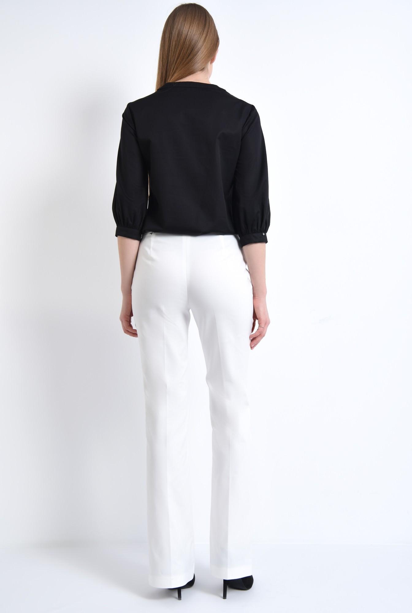 1 - Pantaloni albi, croi drept