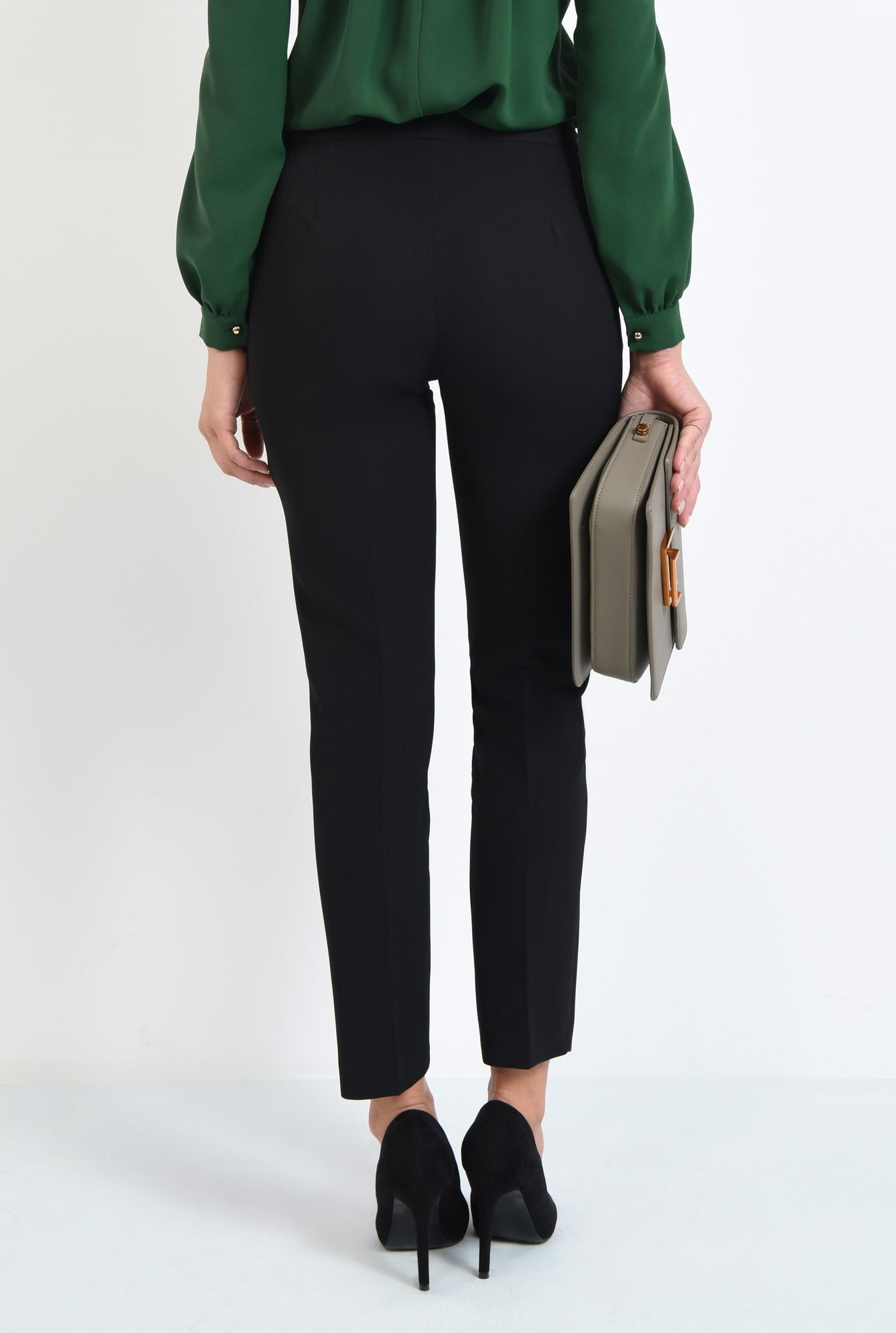 1 - pantaloni casual, negru, talie medie, buzunare