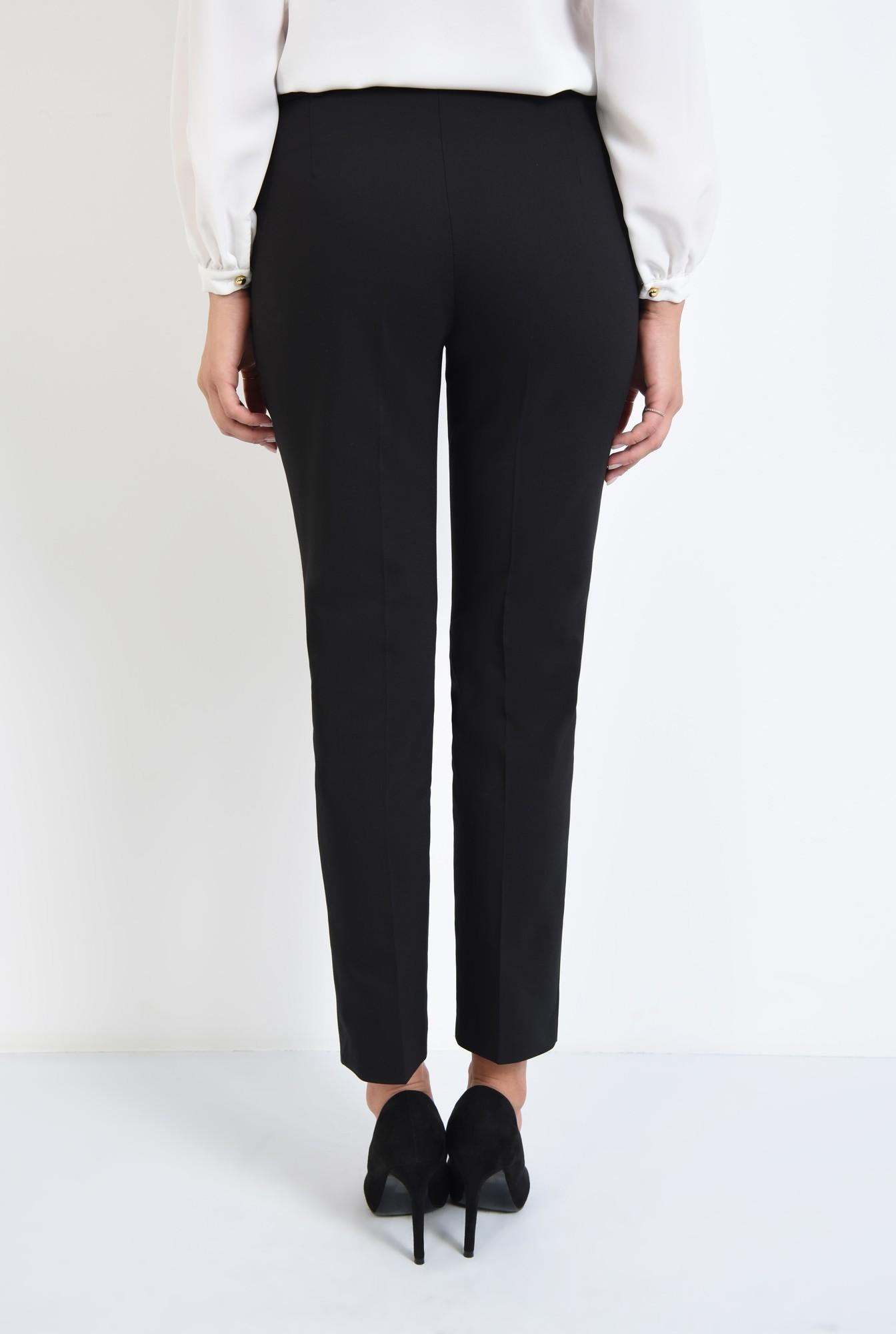 1 - pantaloni casual, negru, buzunare, cordon