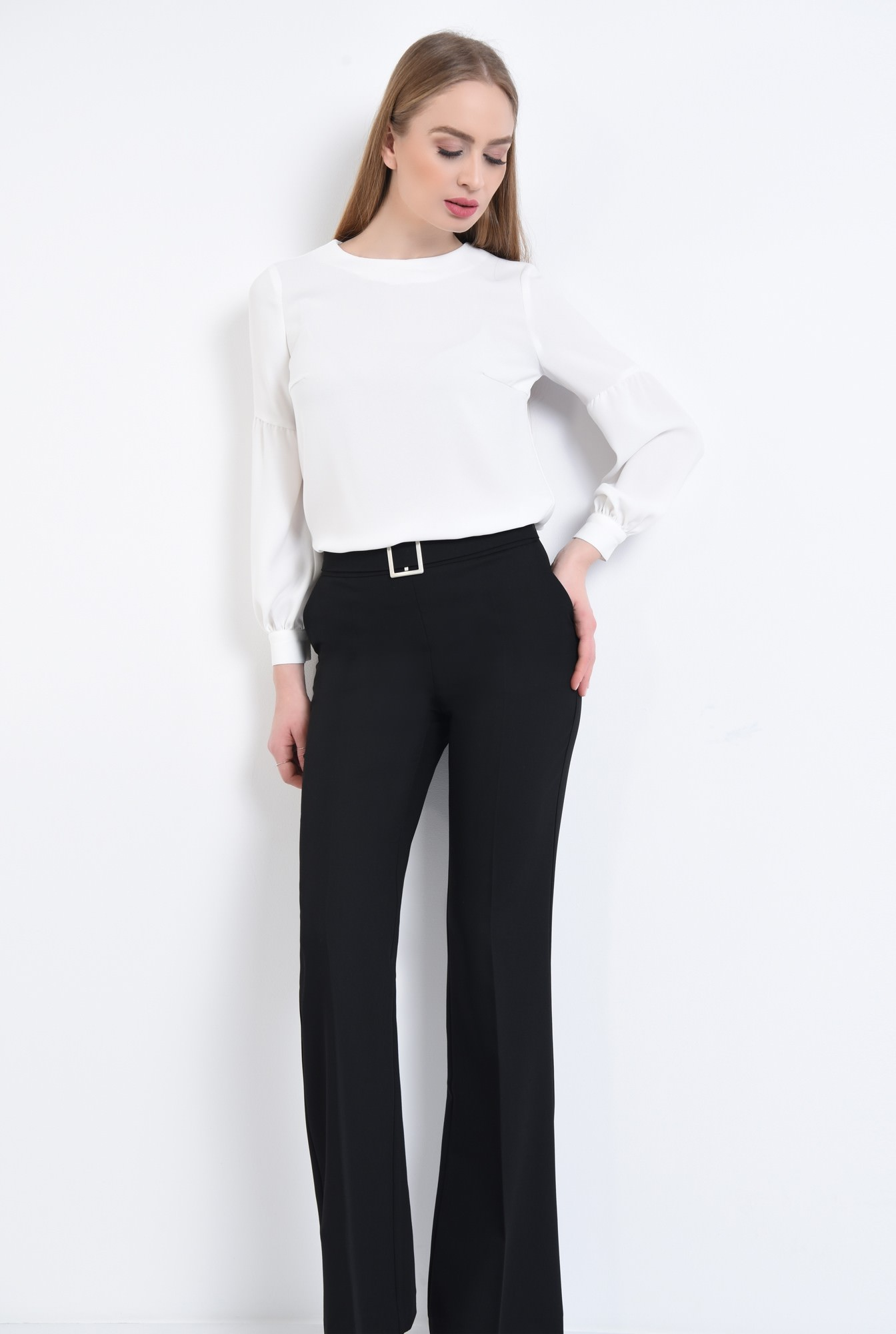 0 - 360 - Pantaloni casual la dunga, betelie