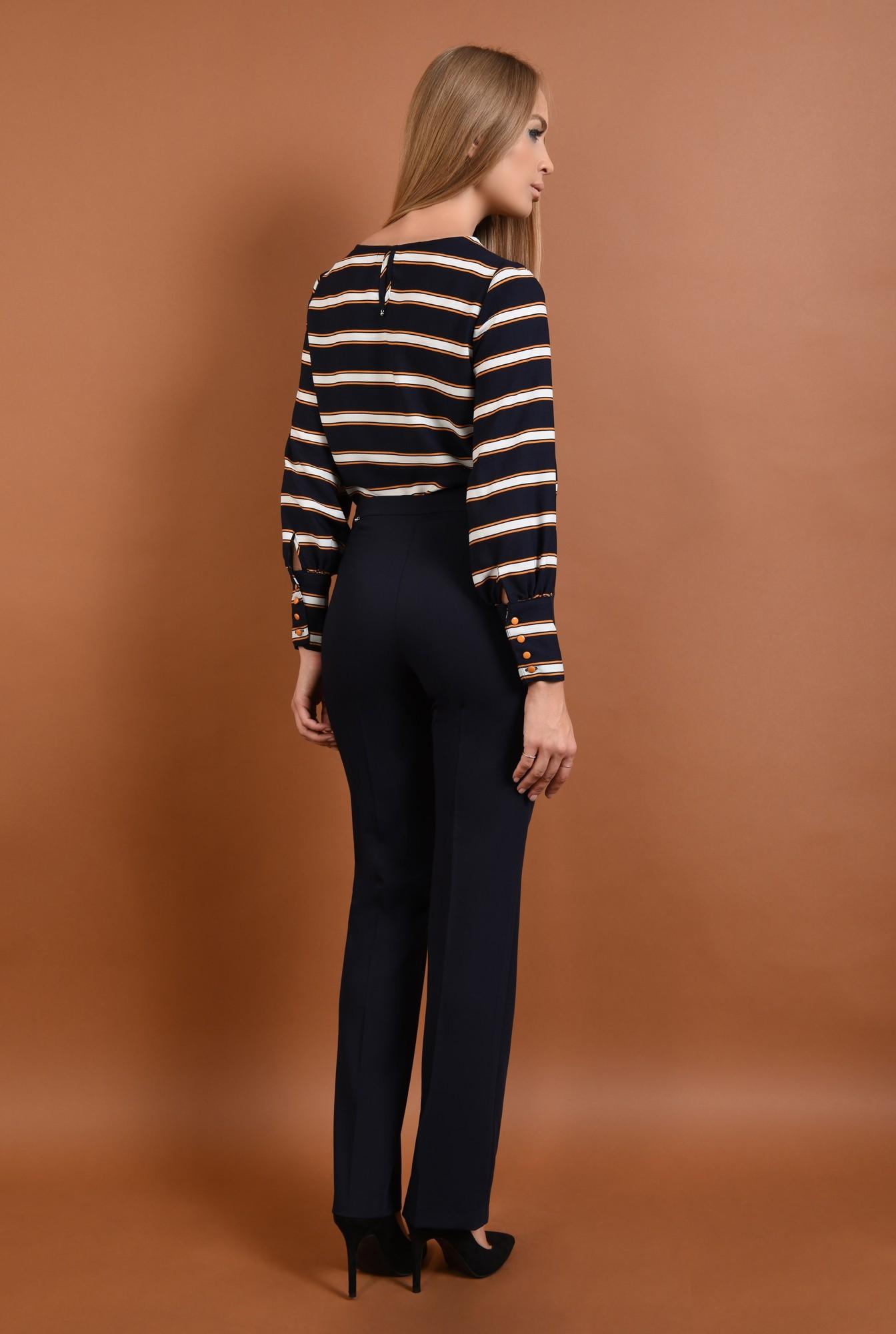 1 - 360 - pantaloni pana, bleumarin, croi clasic, funda la talie