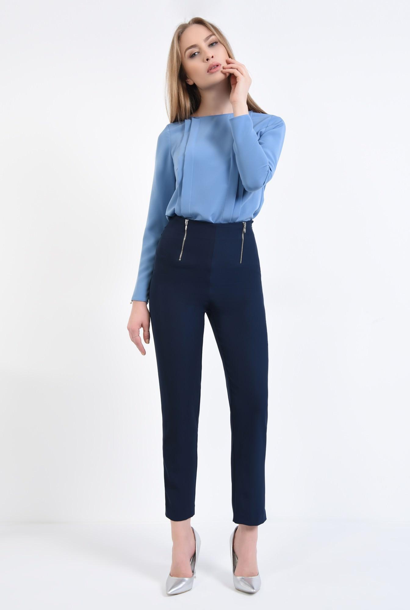 3 - Pantaloni casual, bleumarin