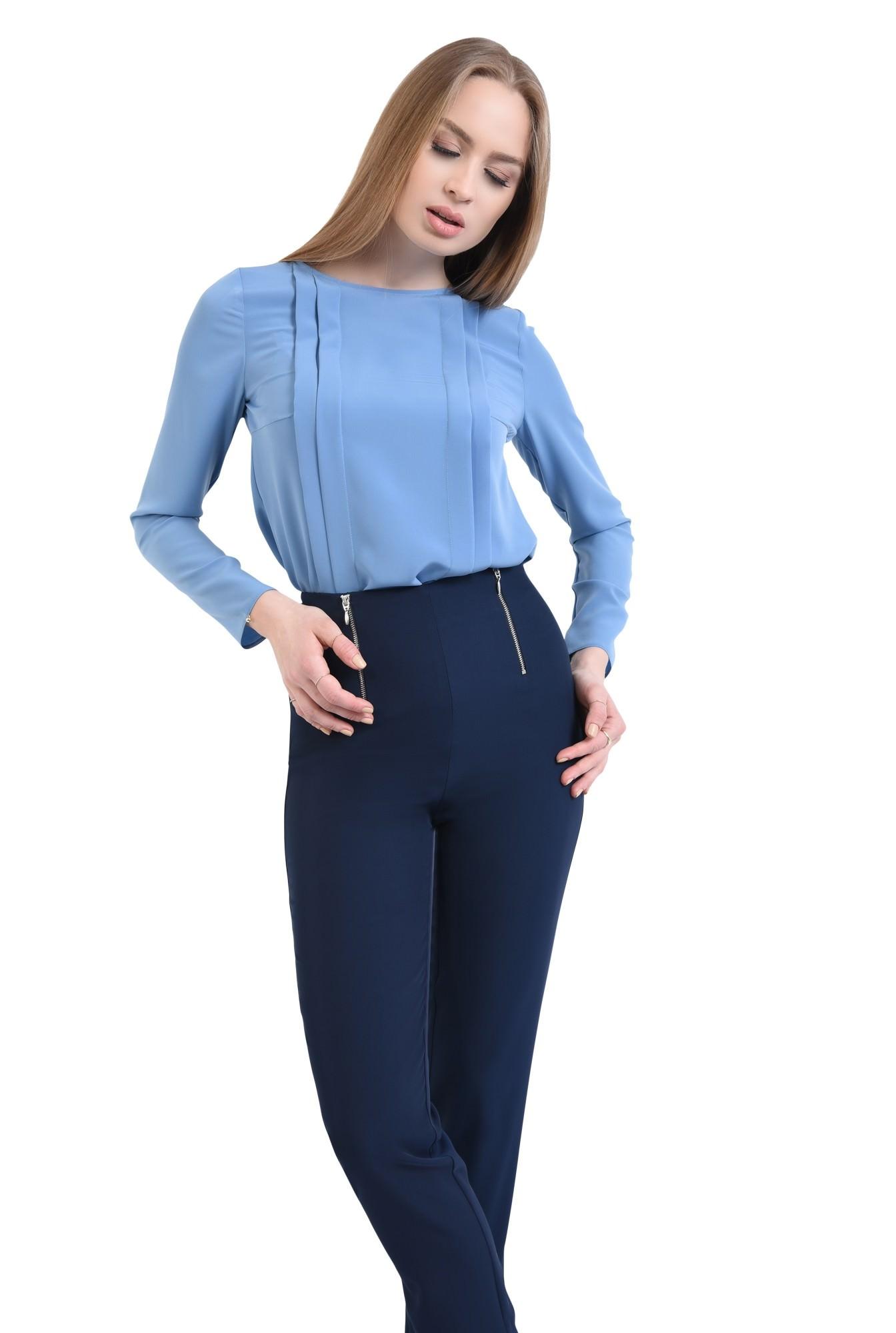 0 - Pantaloni casual, bleumarin