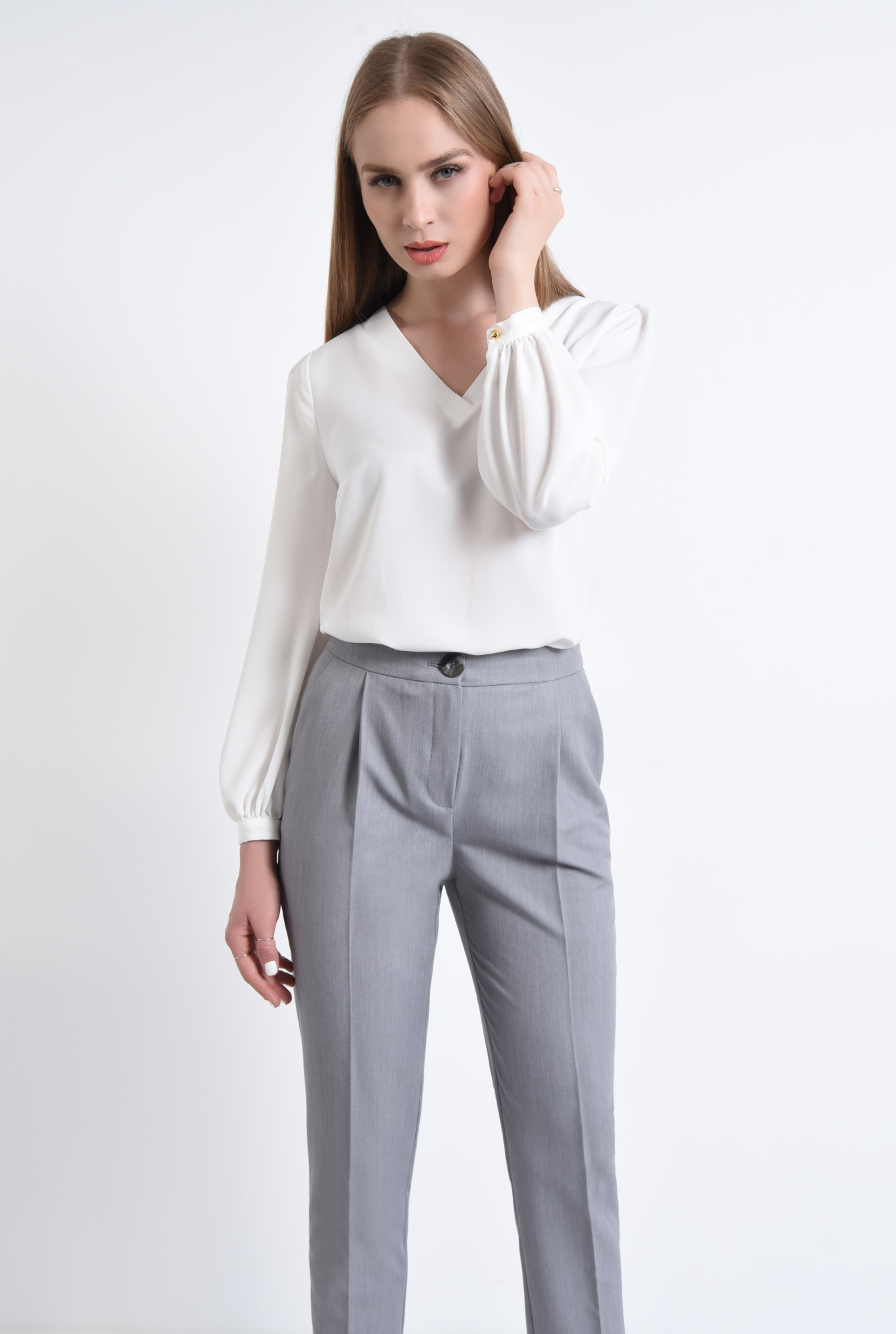 0 - 360 - Pantaloni casual, cu buzunare, lungi