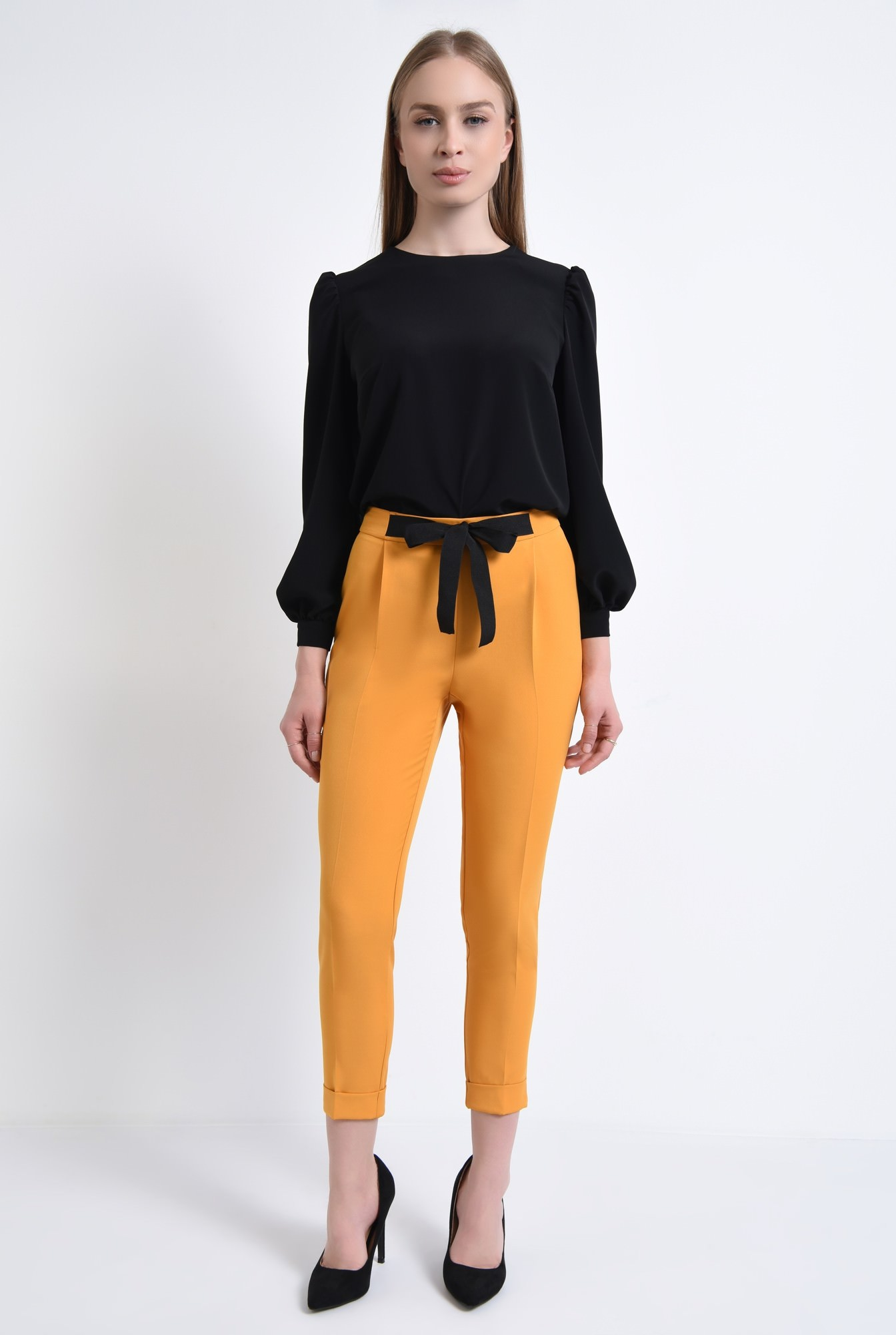 3 - Pantaloni casual, mustar