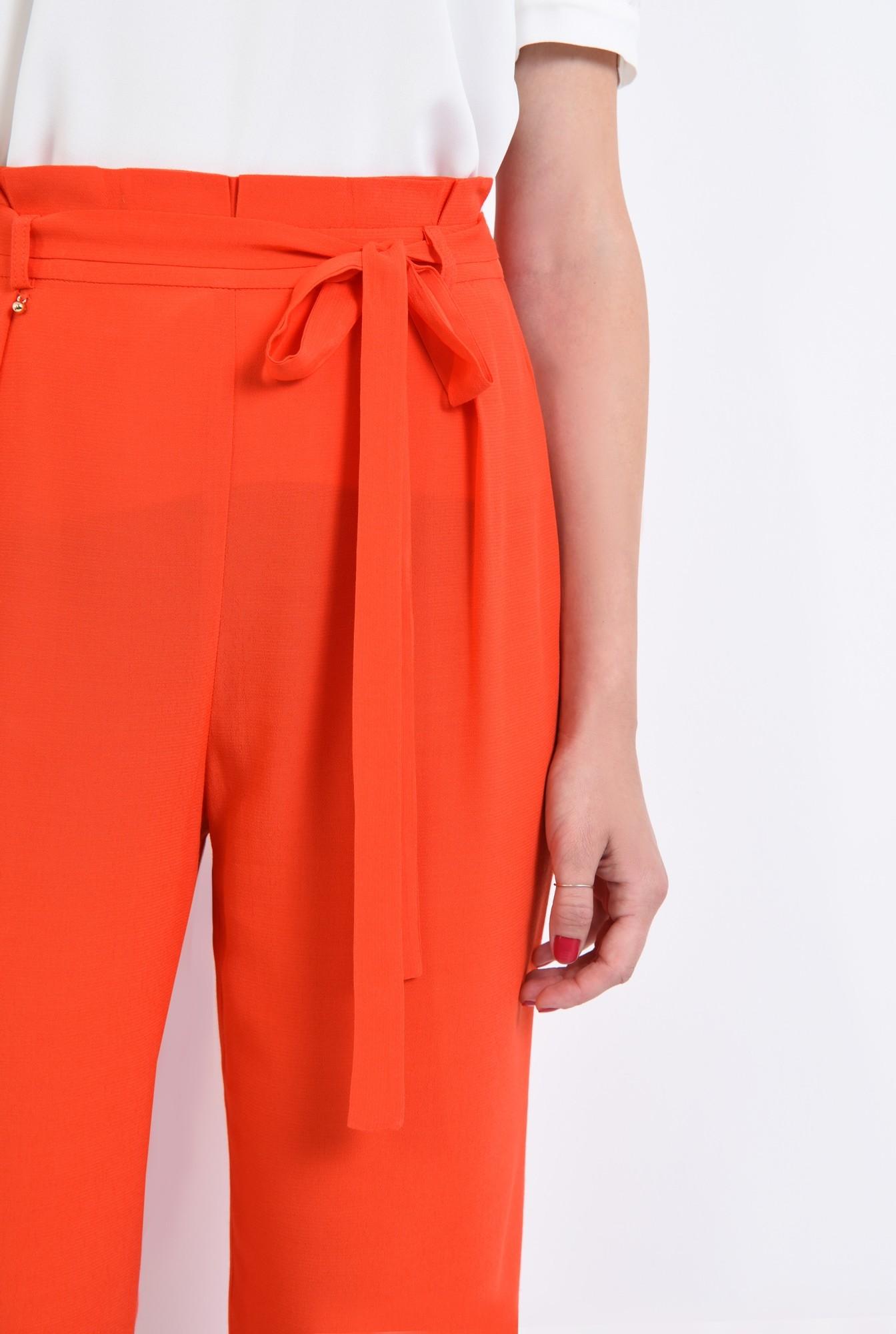 2 - pantaloni eleganti, capri, talie inalta, funda