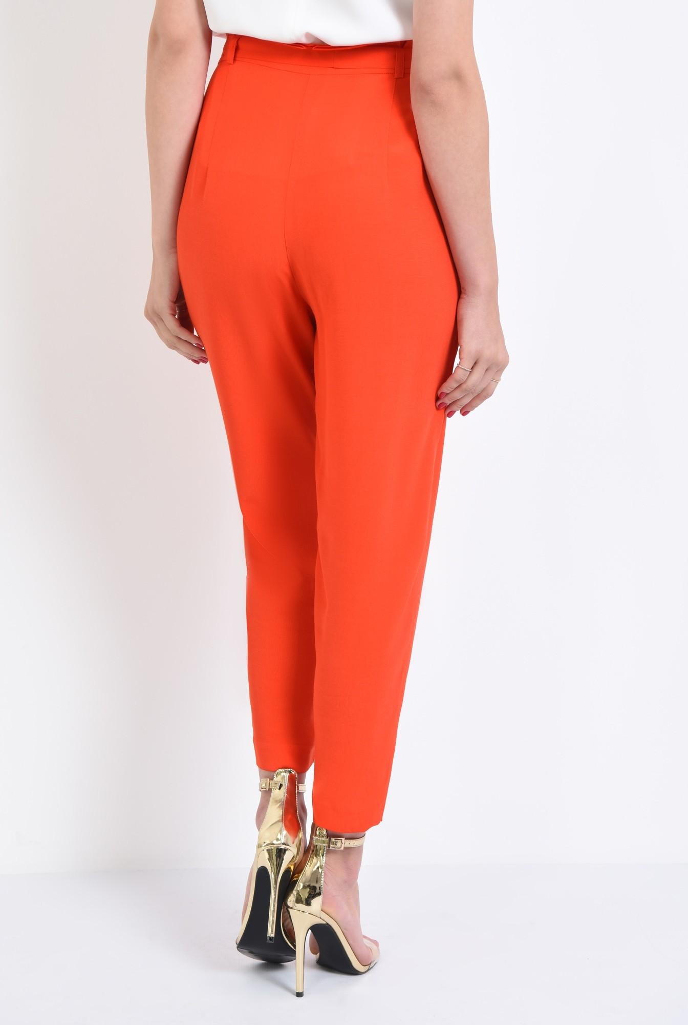 1 - pantaloni eleganti, capri, talie inalta, funda