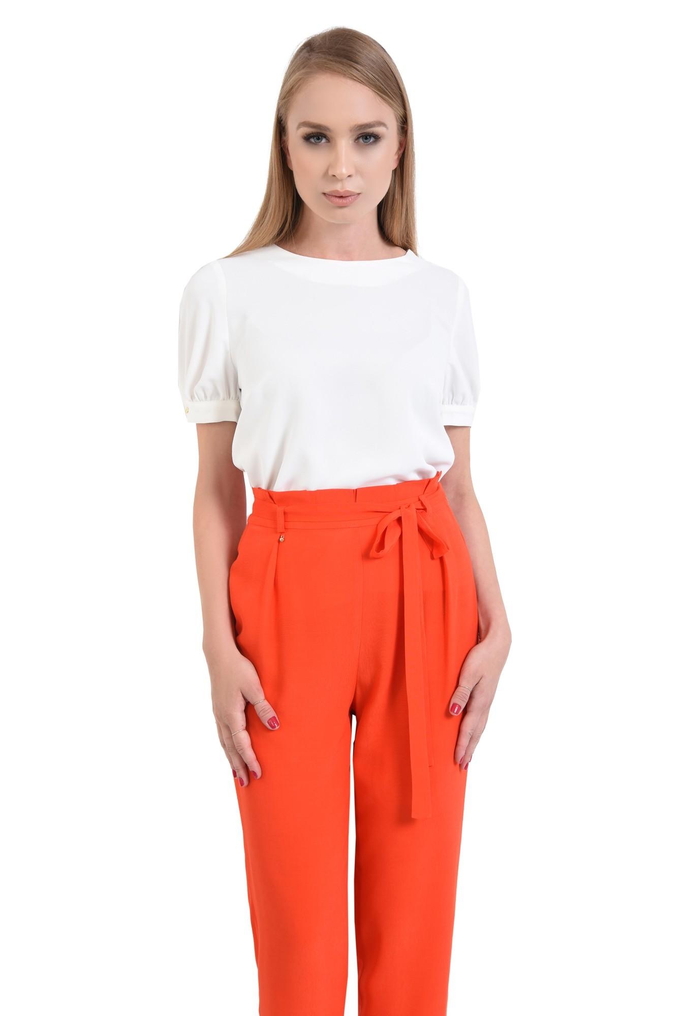 0 - pantaloni eleganti, capri, talie inalta, funda
