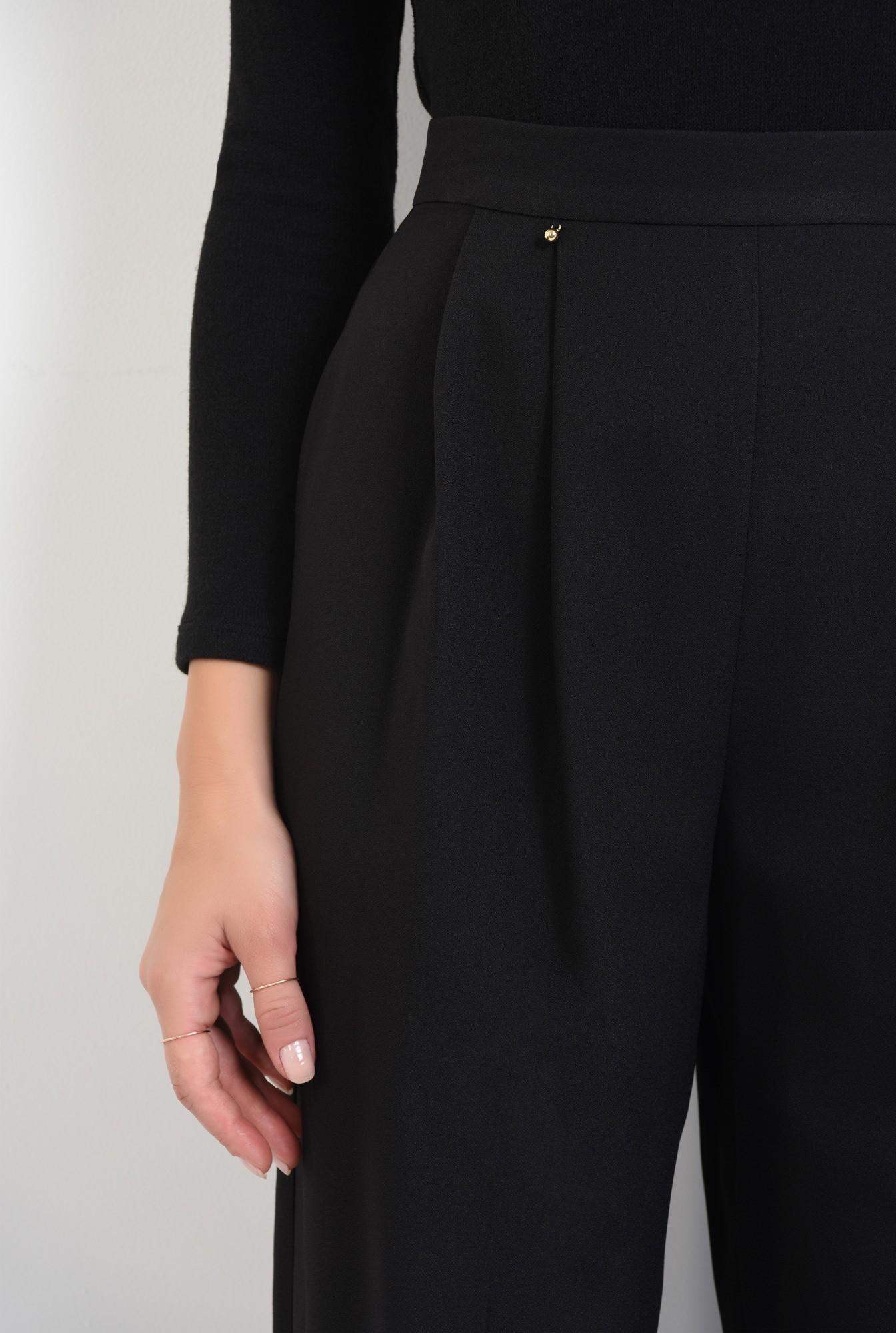 2 - pantaloni eleganti, croi larg, pense, talie inalta