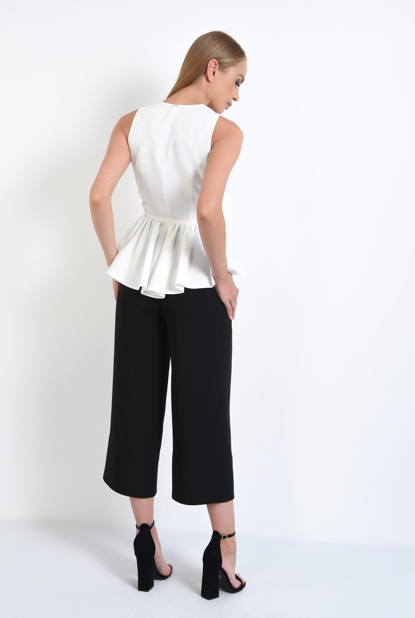 1 - 360 - pantaloni eleganti drepti, wide leg, buzunare functionale