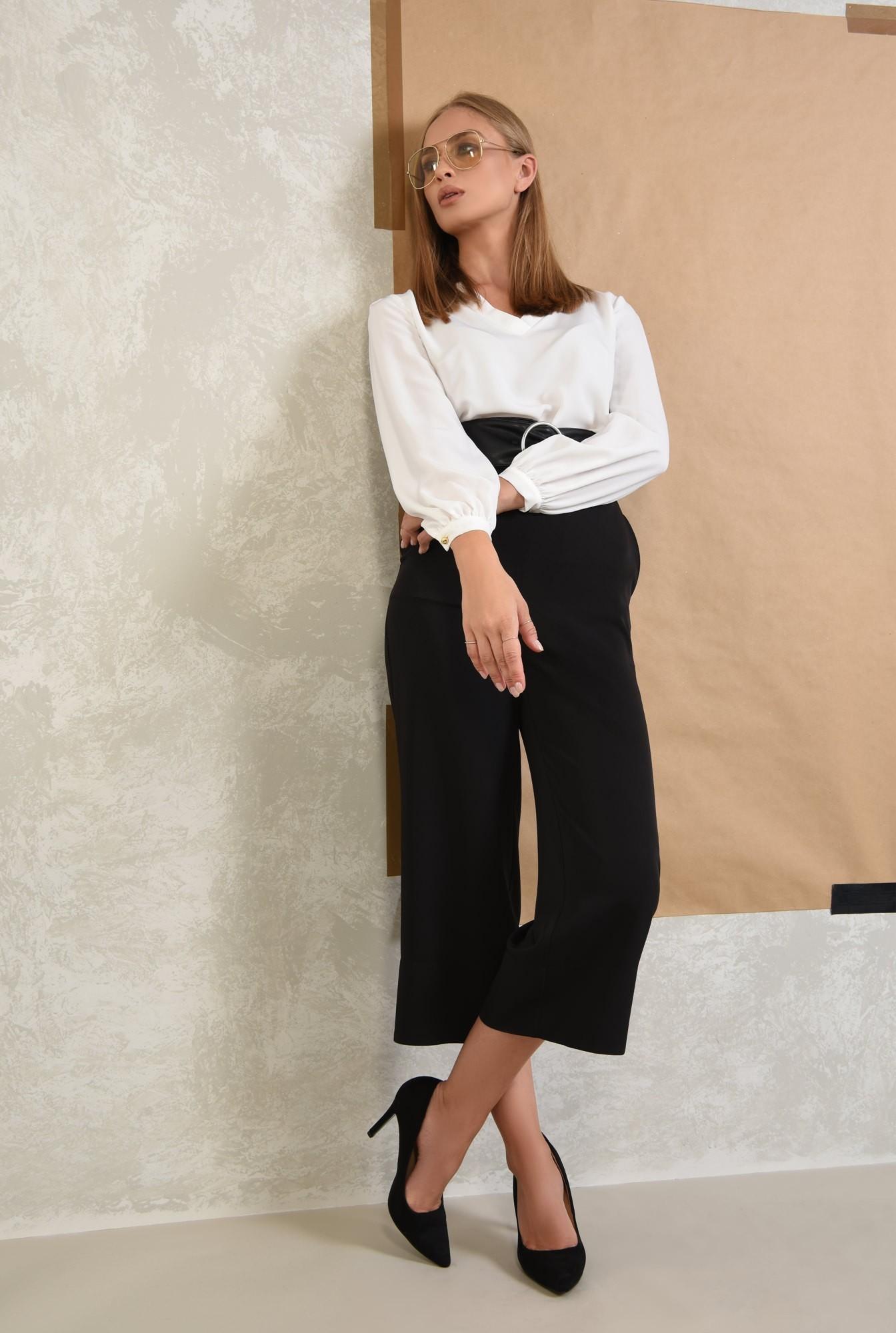 3 - 360 - pantaloni eleganti drepti, wide leg, buzunare functionale