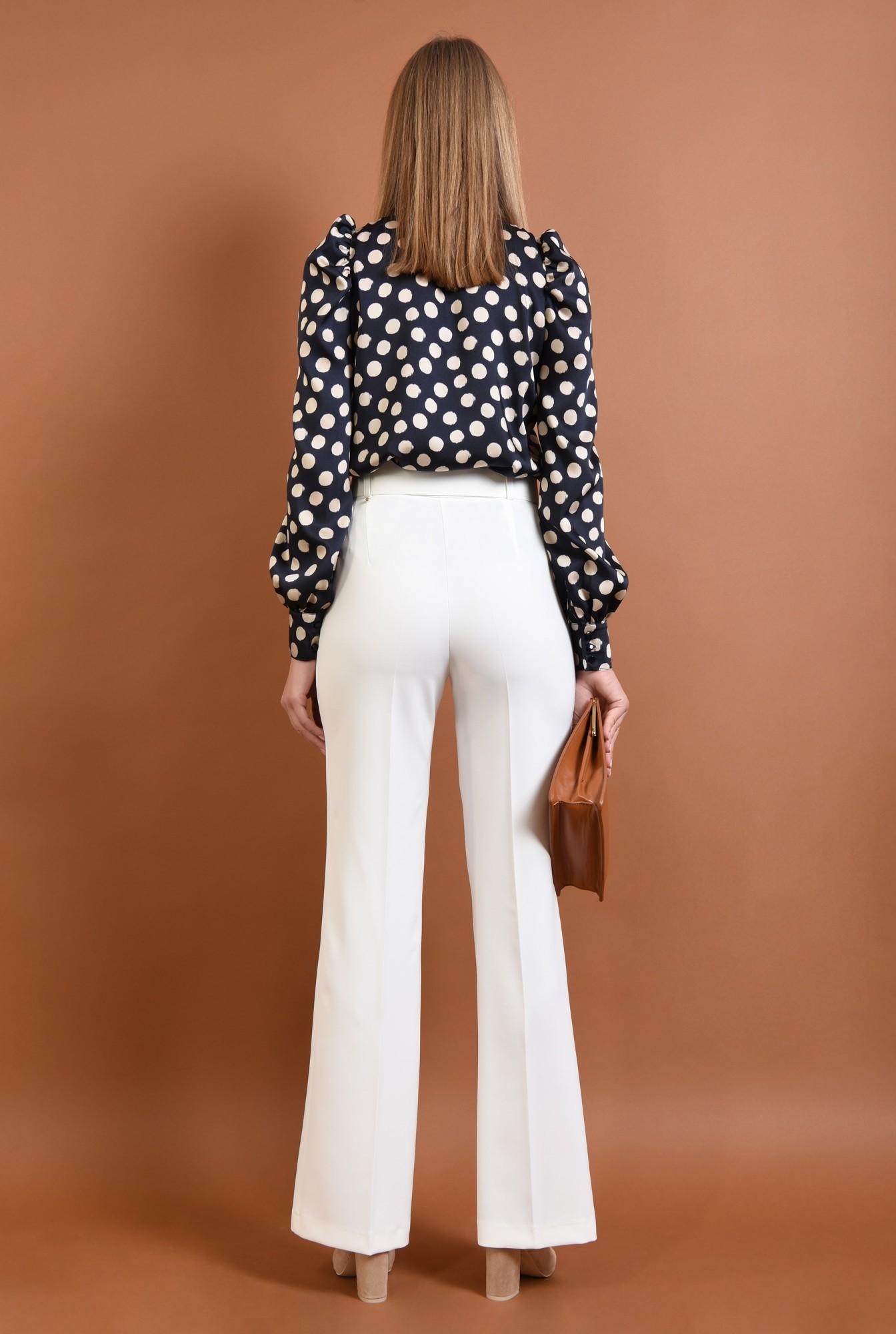 1 - pantaloni eleganti, croi drept, buzunare, talie inalta