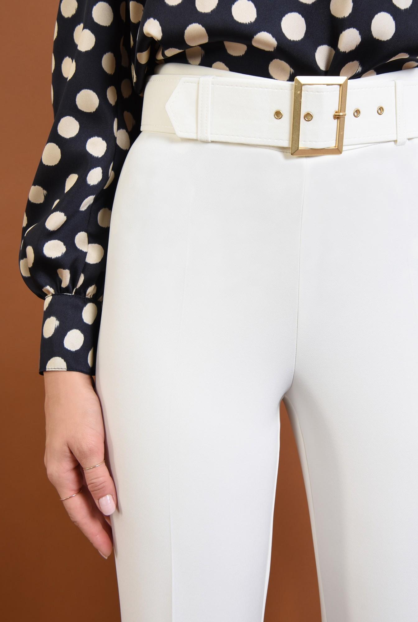 2 - pantaloni eleganti, croi drept, buzunare, talie inalta